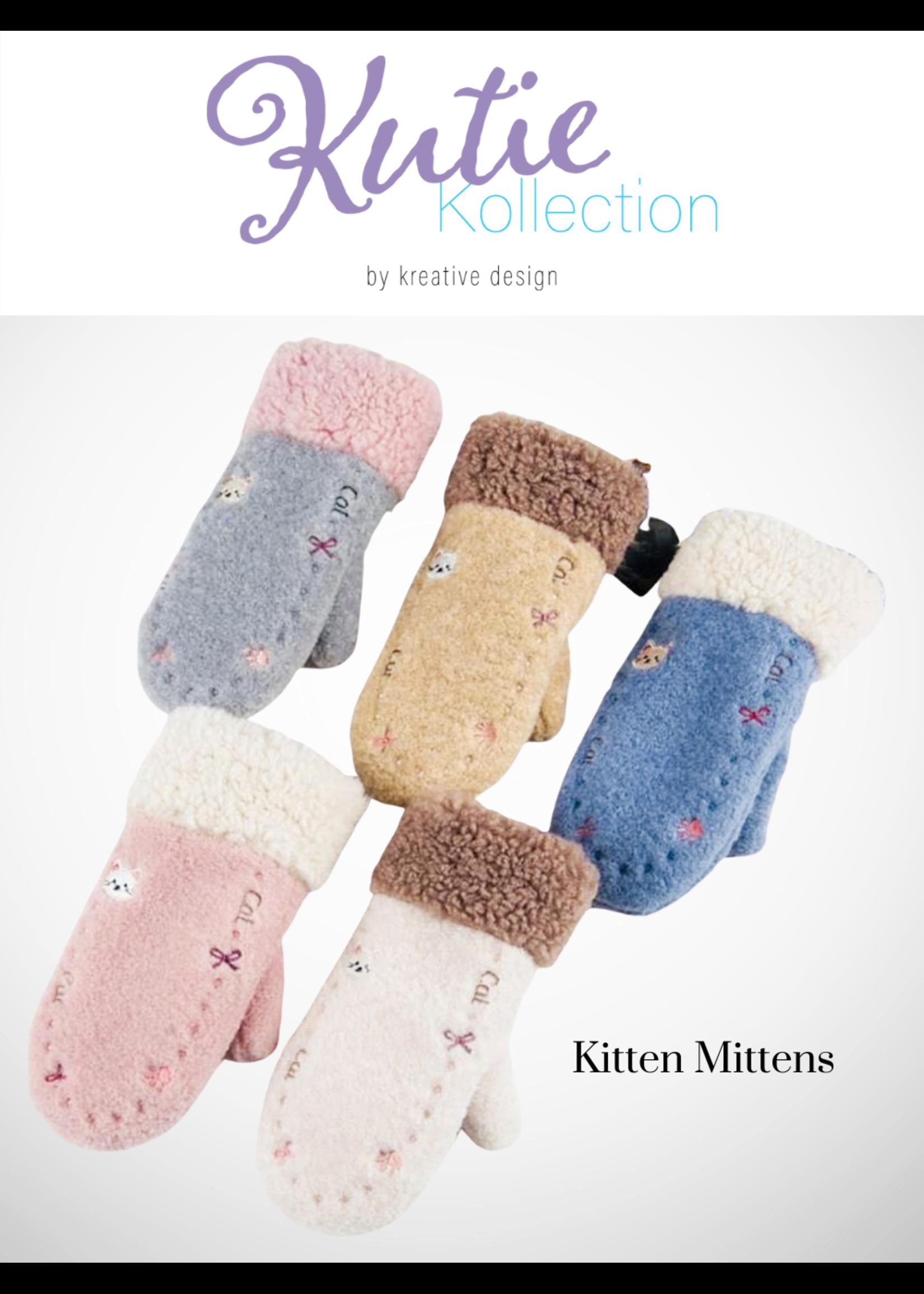 Kids' Cute Cat Embroidered Winter Glove