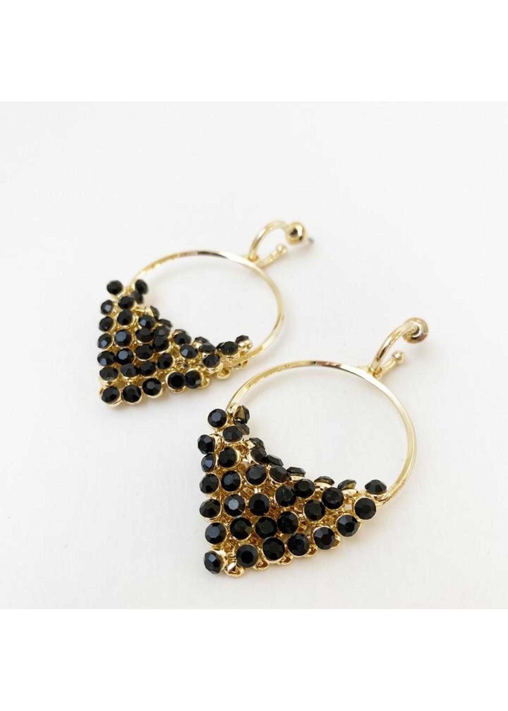 Drop Crystal On Ring Earrings