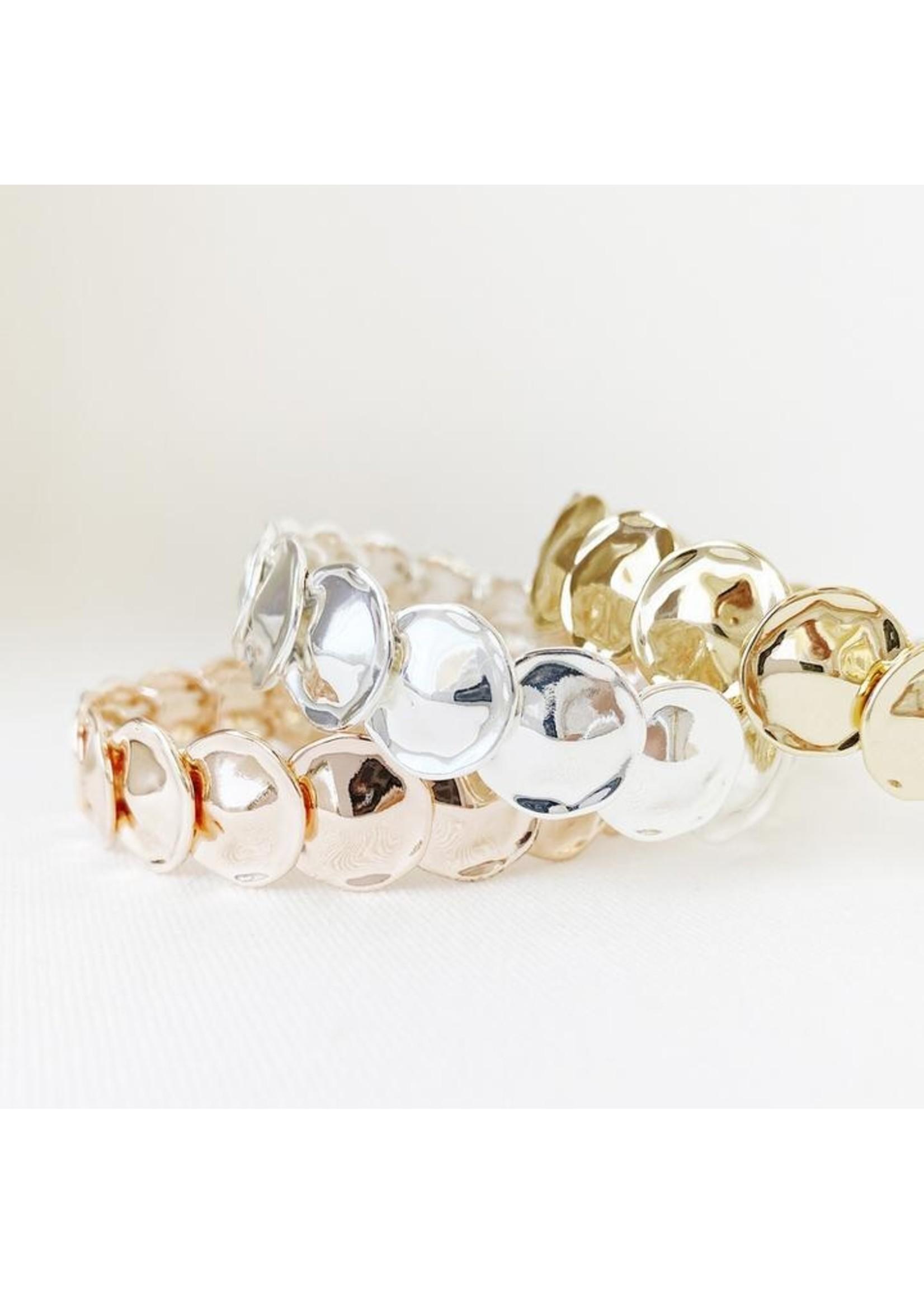 Metallic Discs Stretch Bracelet