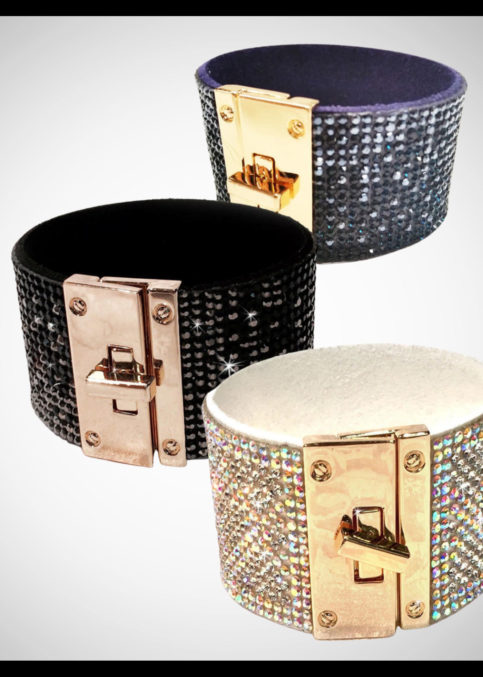 Jacqueline Kent Swarovski Crystal Cuff Bracelet   JK