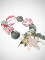 Jacqueline Kent Rock Candy Crystal Pink Grey Bracelet   JK