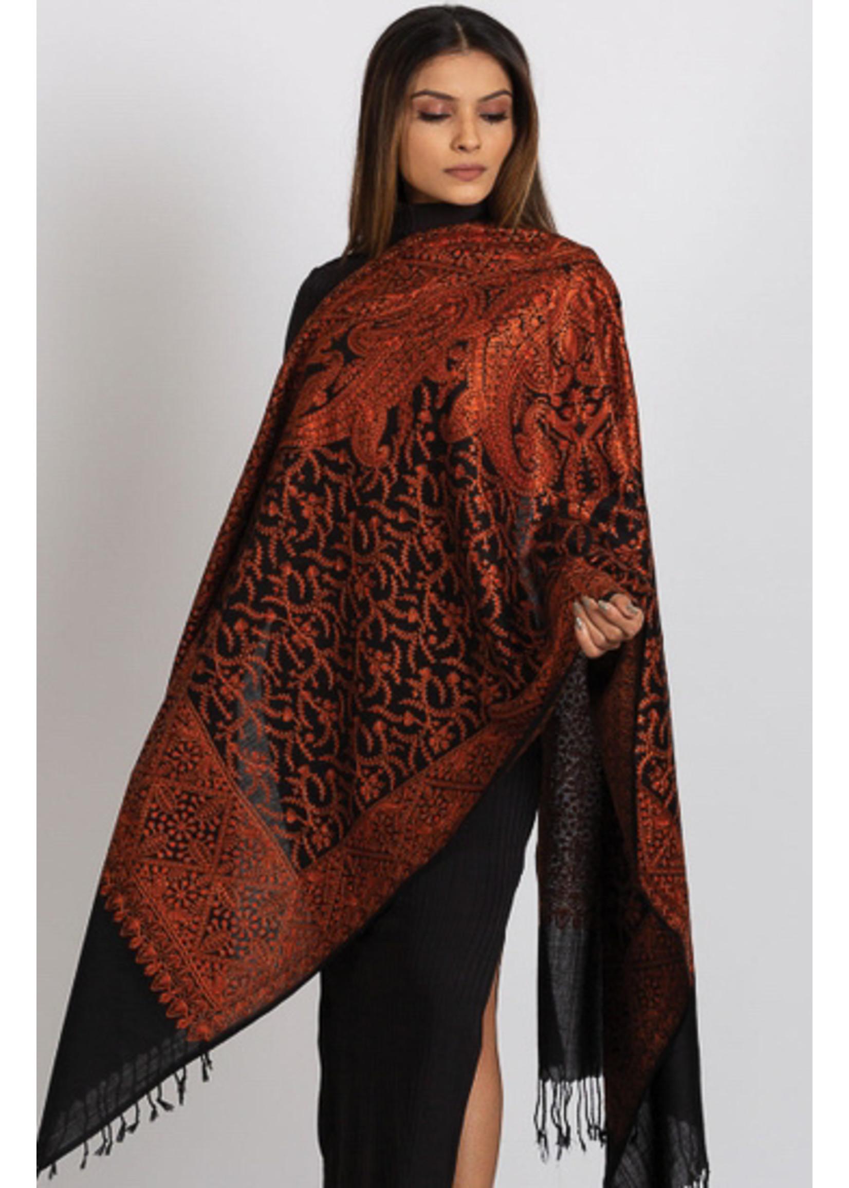 Sanika Embroidered Wool Shawls
