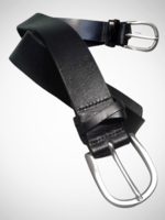 Criss Cross Plain Leather Belt. 35mm