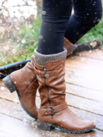 Taxi Amber-21WP Kneehigh Boot