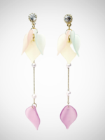 Jacqueline Kent Earrings Soft Petal Drop Multi   JK