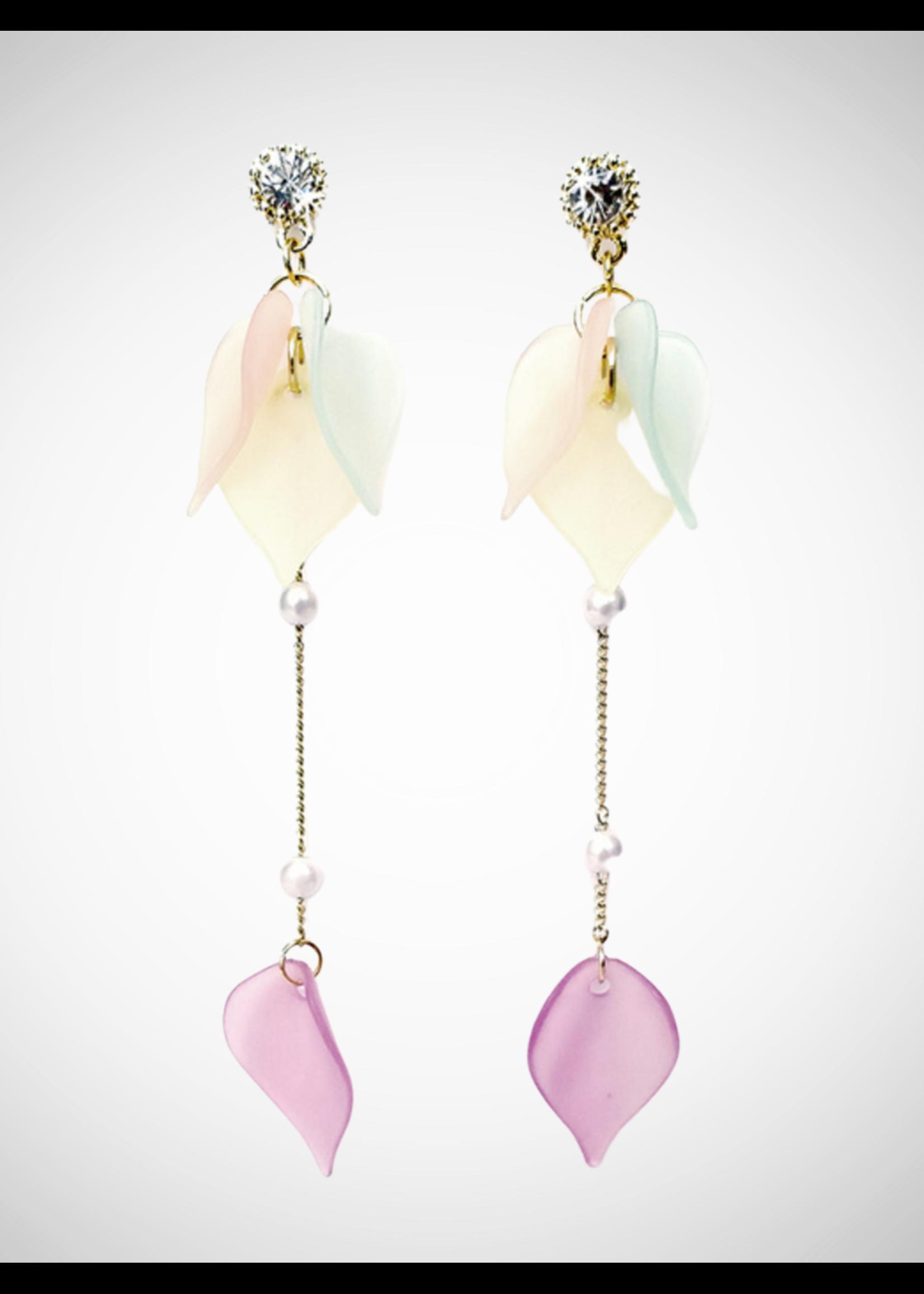 Jacqueline Kent Earrings Soft Petal Drop Multi | JK
