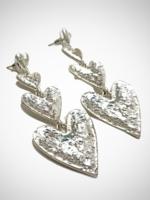 Jacqueline Kent Earrings Heart Drop Silver | JK