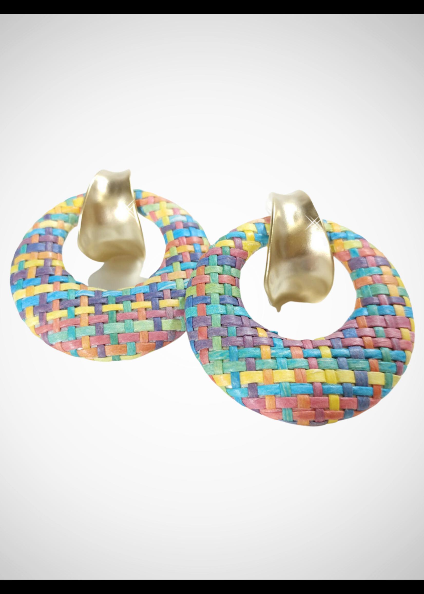 Jacqueline Kent Earring Pastel Weaved Hoop | JK