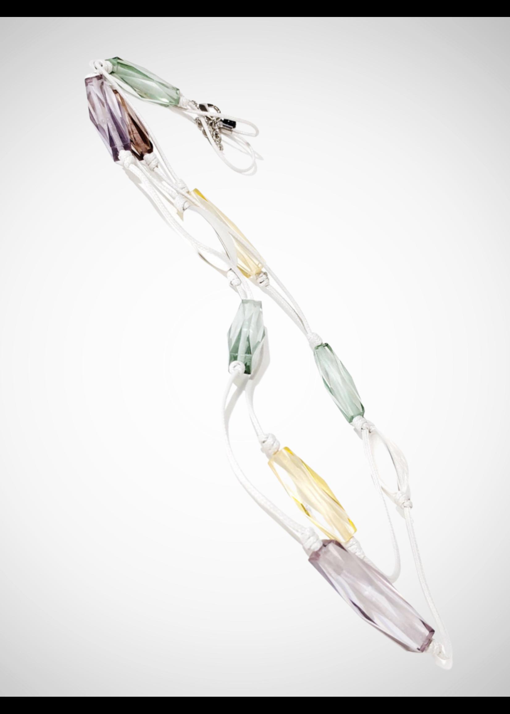 Jacqueline Kent Necklace Water Color Crystal   JK