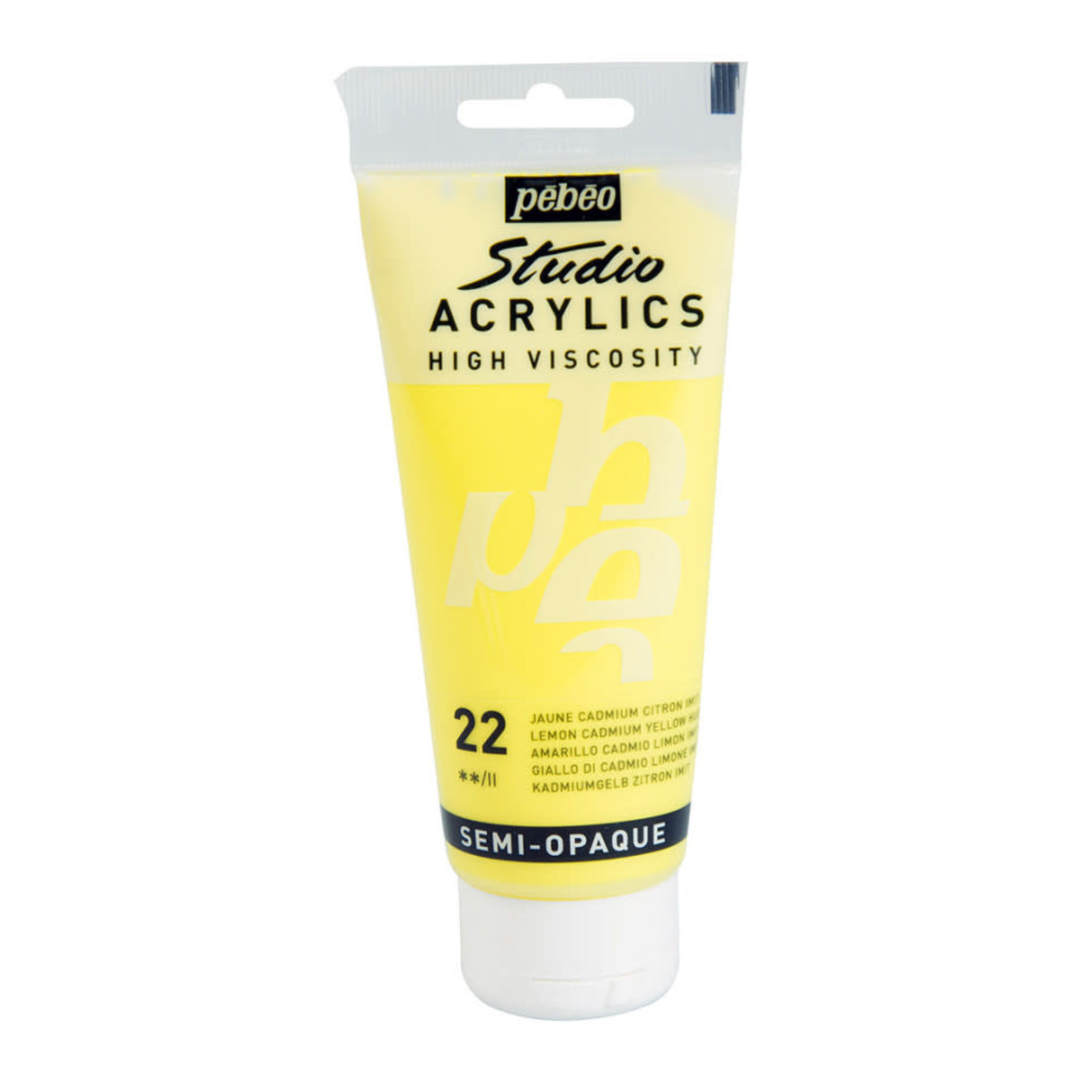 Pebeo Pebeo Acrylic Lemon Cadmium Yellow Semi-Opaque