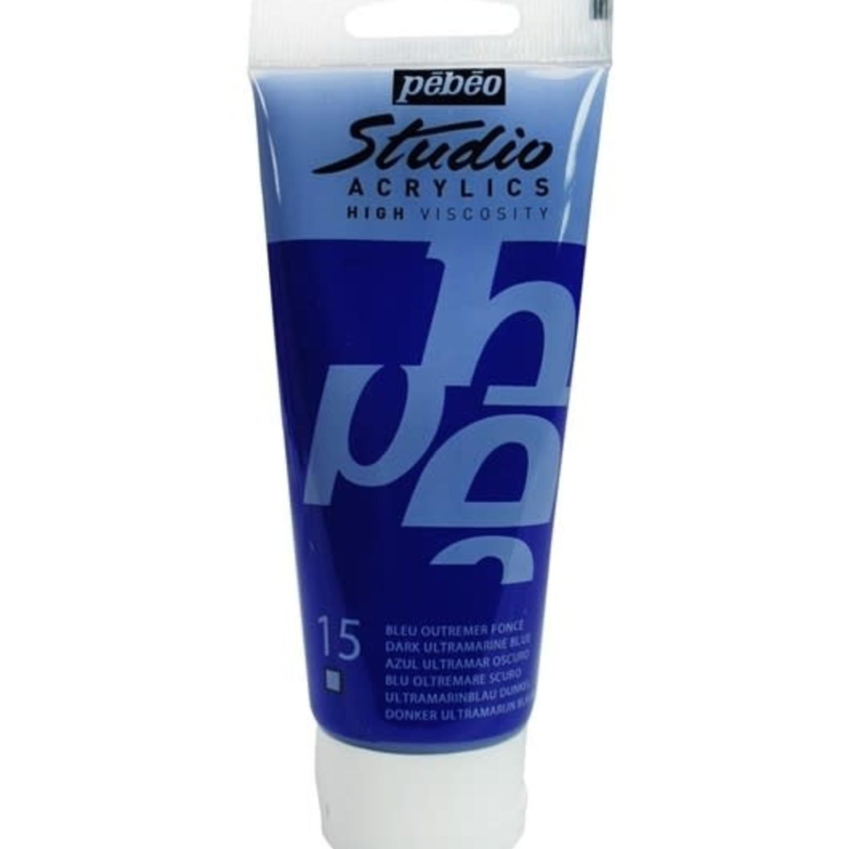 Pebeo Pebeo Acrylic Dark Ultramarine Blue Trans.
