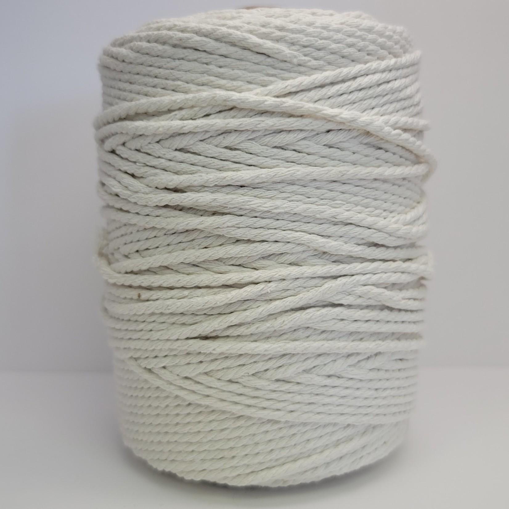 3mm Triple Strand Macrame Rope - 1kg approx 1000ft  - White Chiffon
