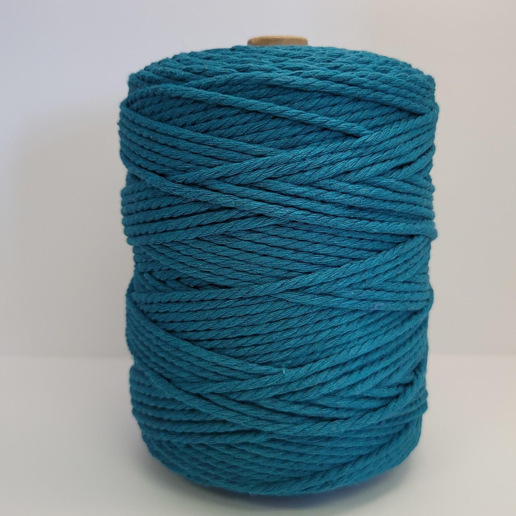 3mm Triple Strand Macrame Rope - 1kg approx 1000ft  - Deep Teal