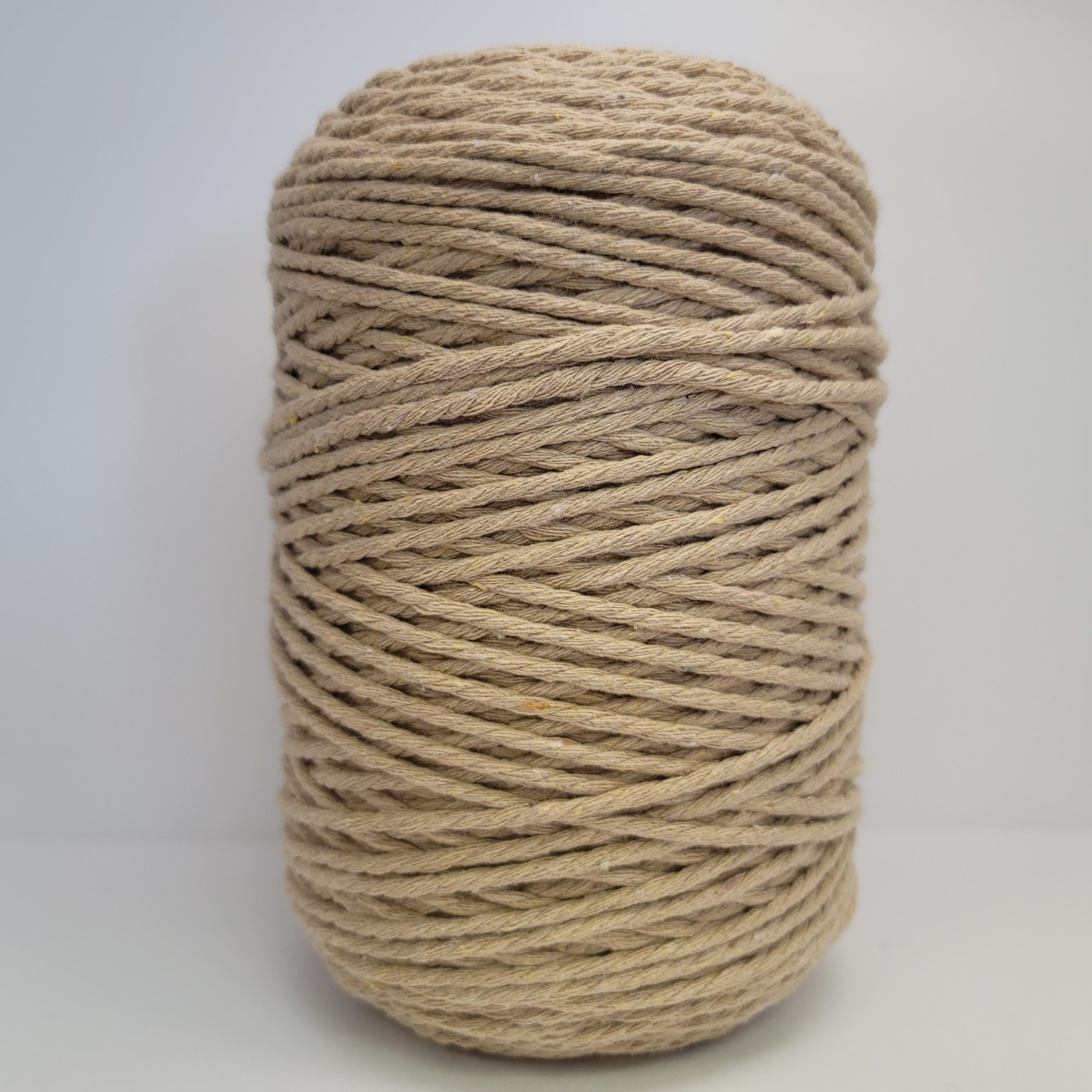 3mm Triple Strand Macrame Rope - 1kg approx 1000ft  - Cappuccino