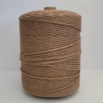 3mm Triple Strand Macrame Rope - 1kg approx 1000ft  - Almond