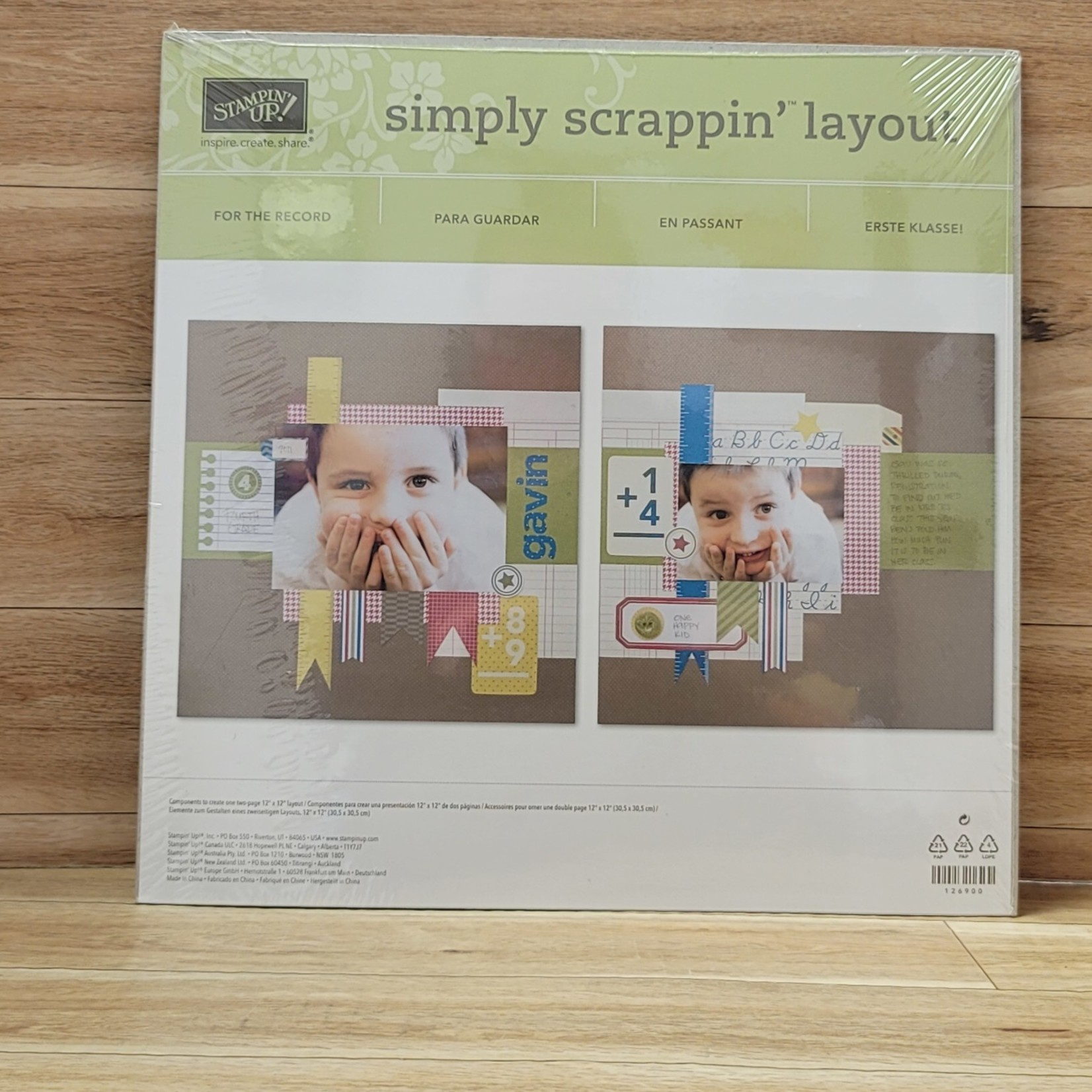 Stampin' Up Stampin' Up - Simply Scrappin' Layout - For The Record