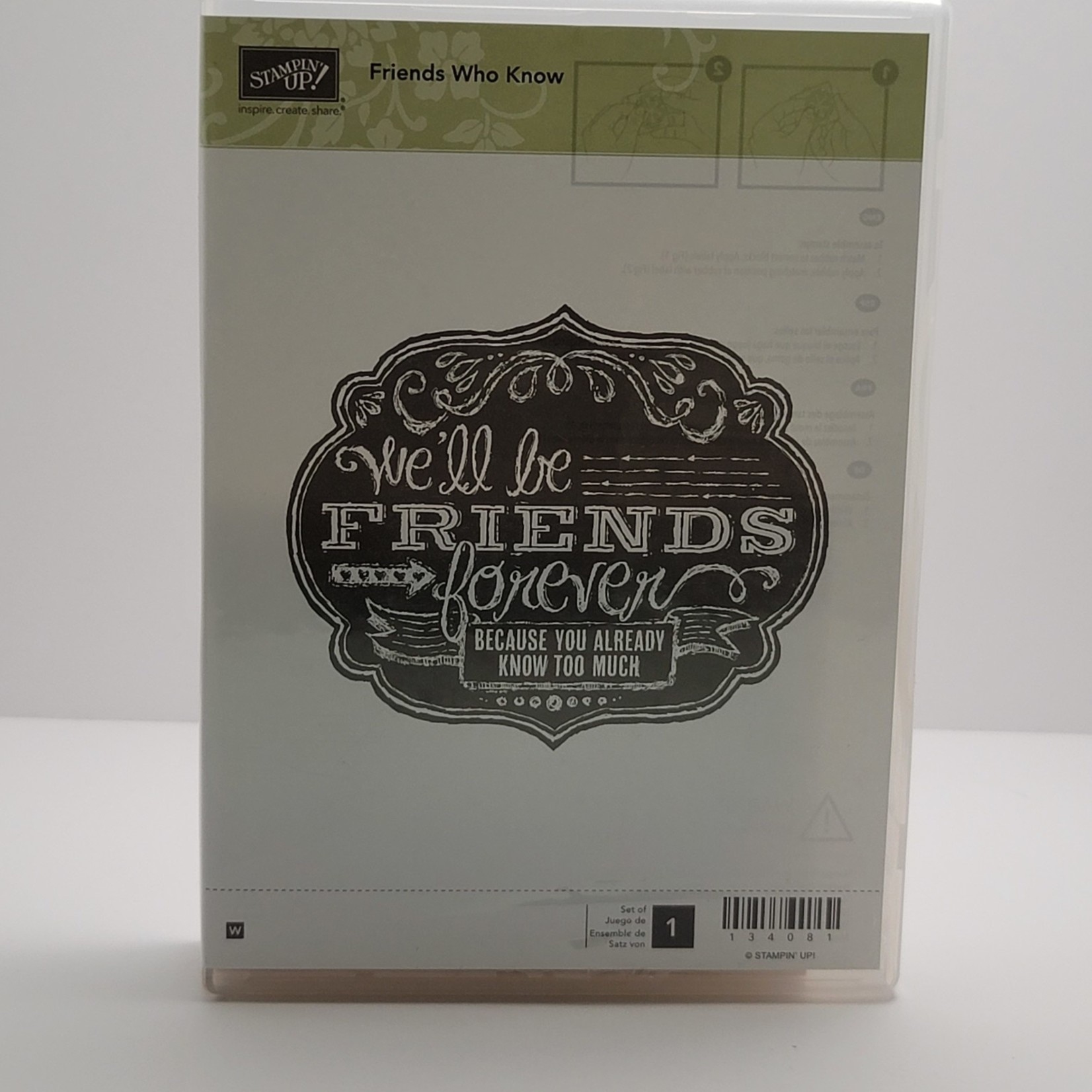 Stampin' Up Stampin Up - Block Stamp - Friends you Know