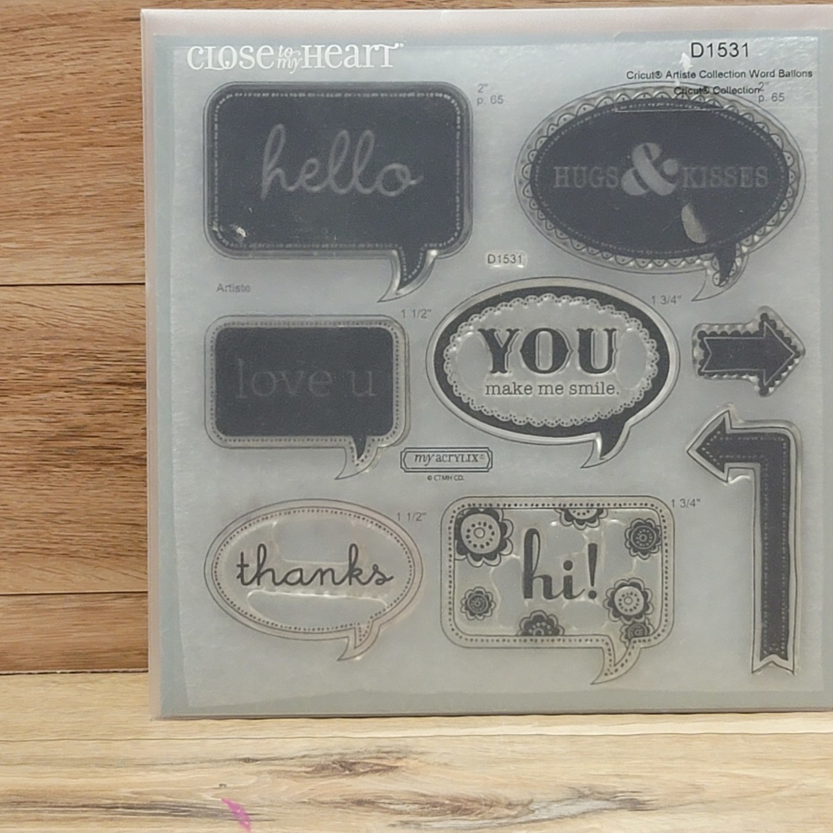 Close to my Heart Close to my Heart - My Acrylix - Cricut Artiste Collection Word Balloon