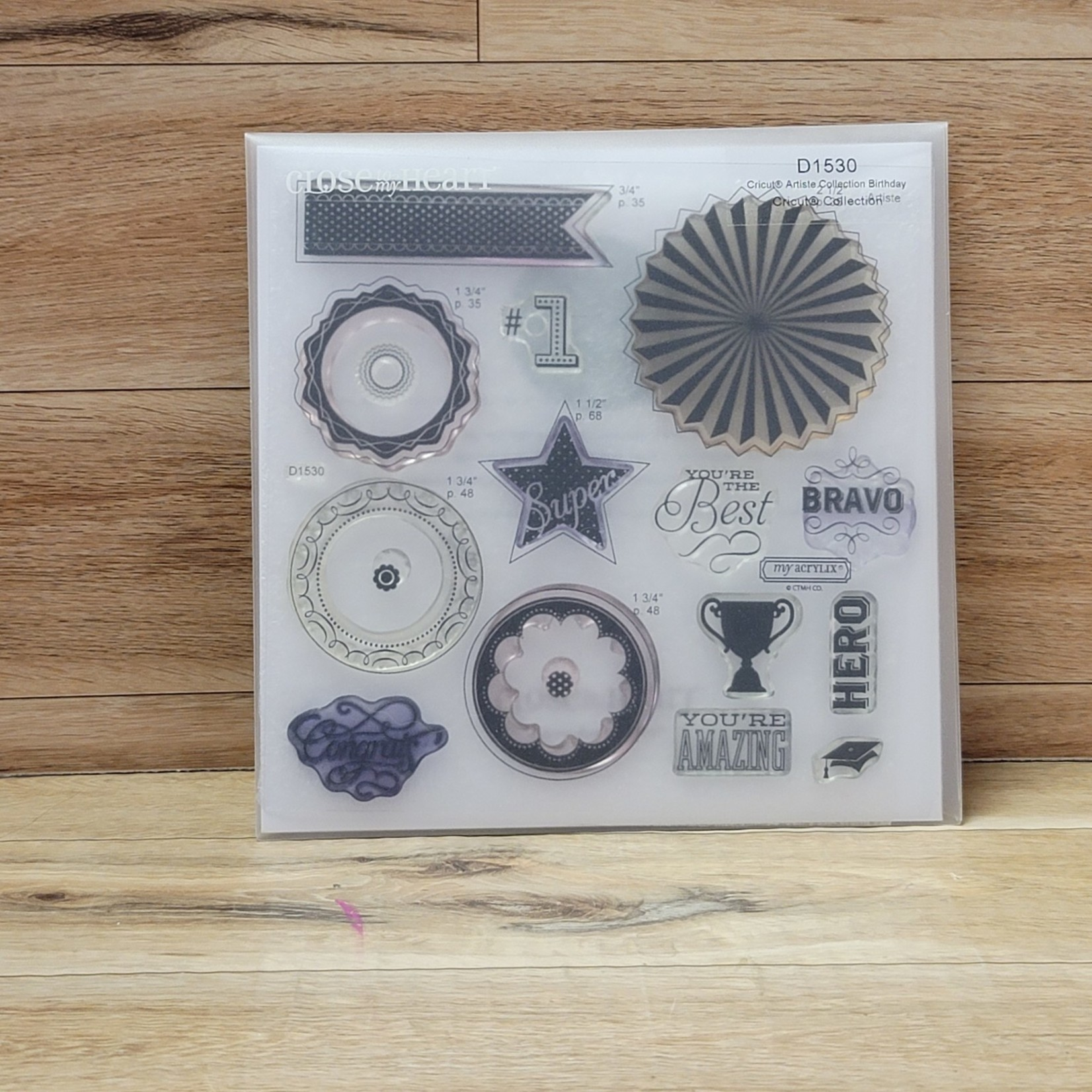 Close to my Heart - My Acrylix - Cricut Artiste Collection Birthday
