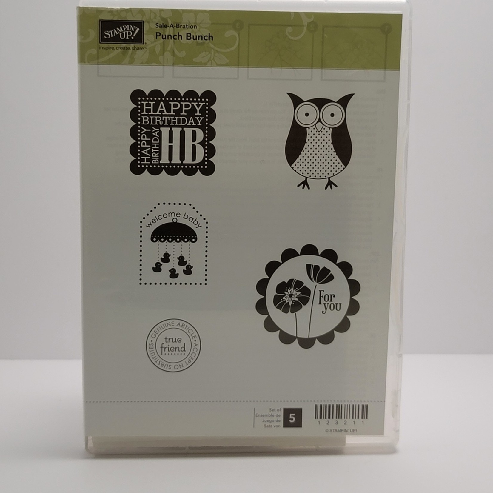 Stampin' Up - Cling Stamps - Punch Bunch