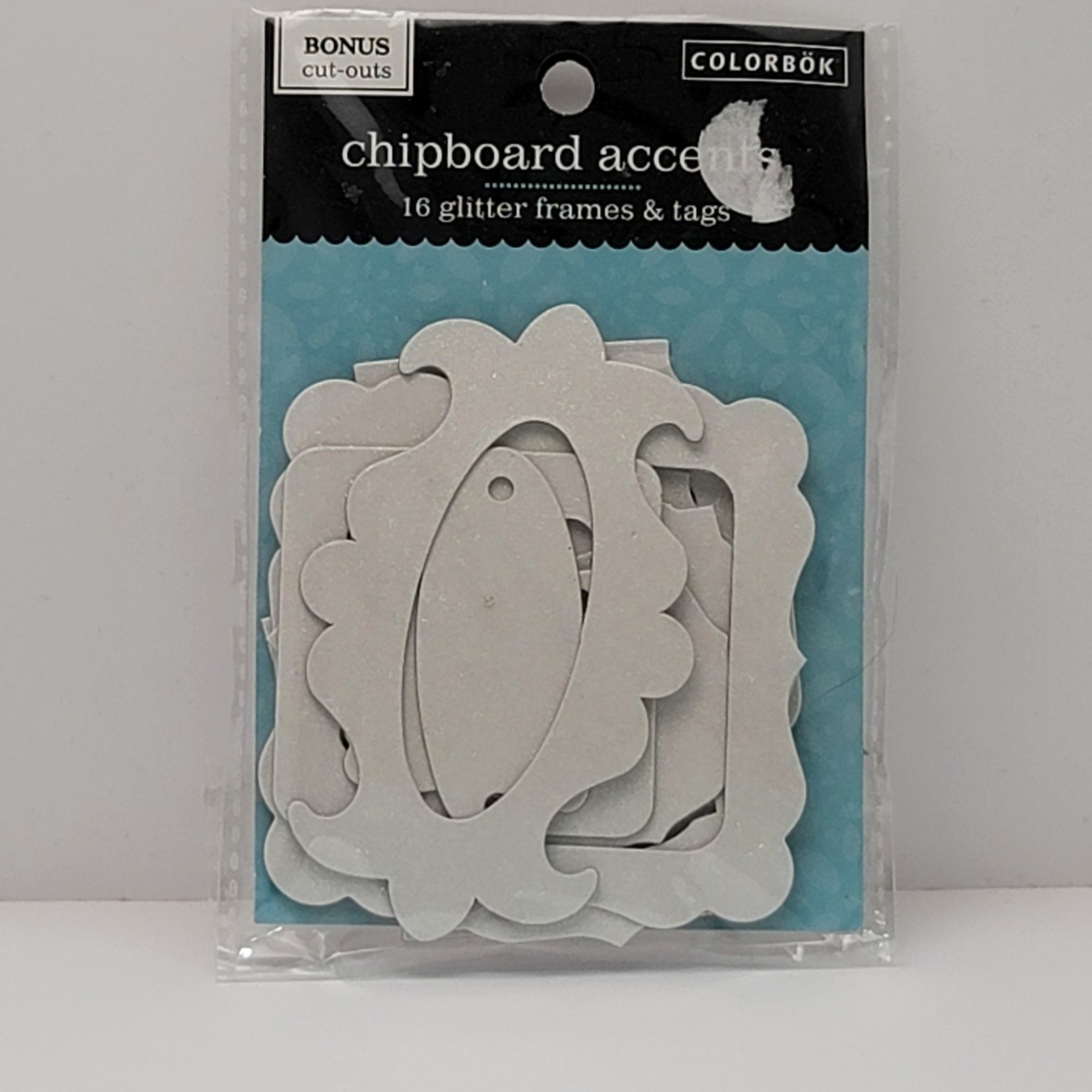 Chipboard Accents - Glitter Frames & Tags