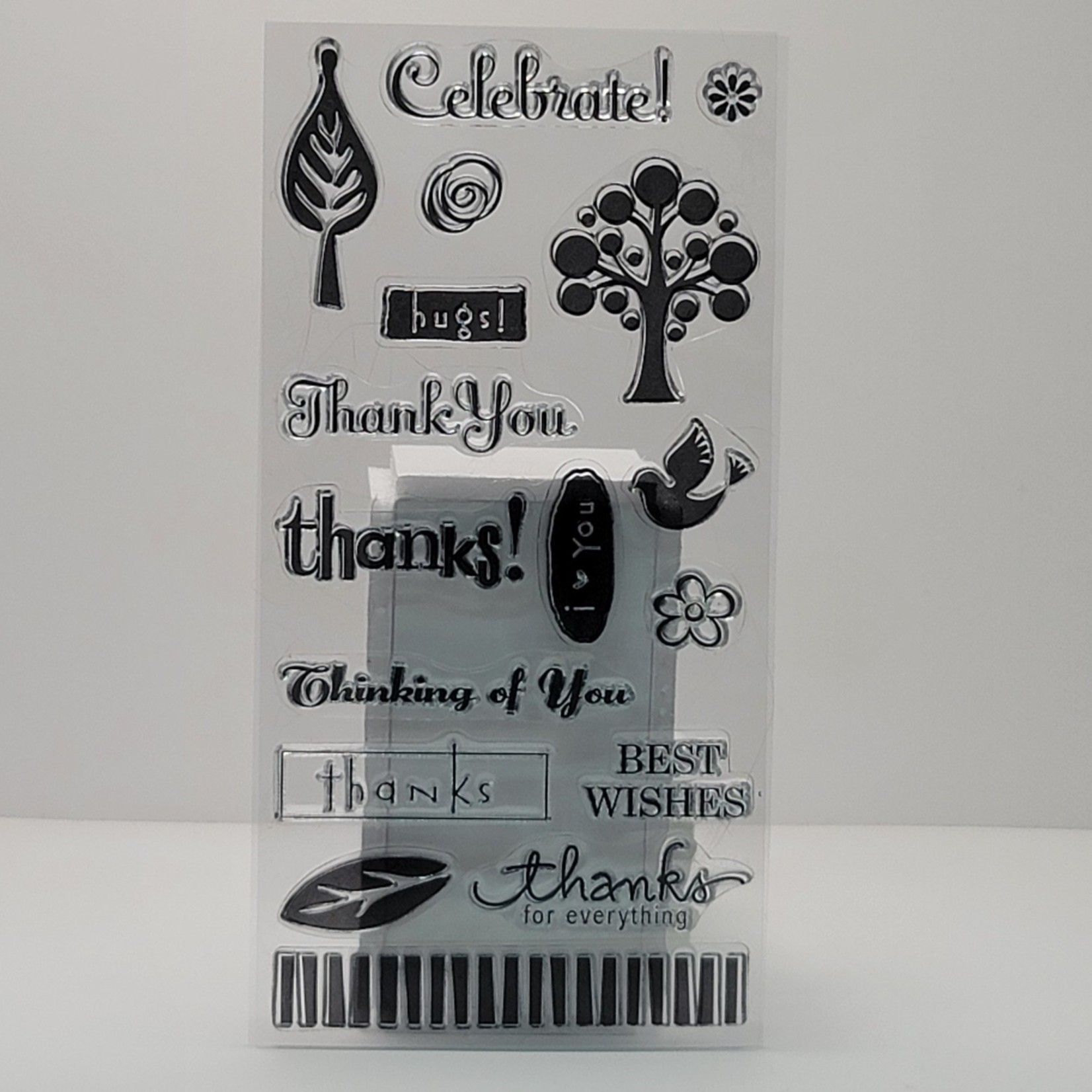 Clear Stamps - Celebrate, thanks...