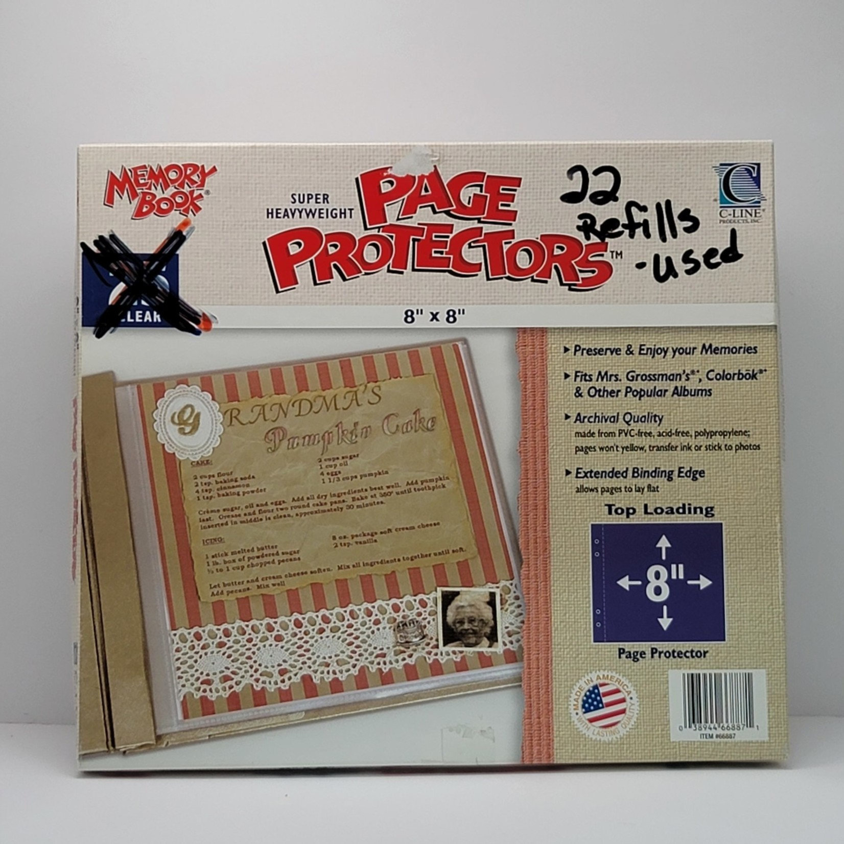 """Page Protectors - 8"""" x 8"""" (22 used)"""