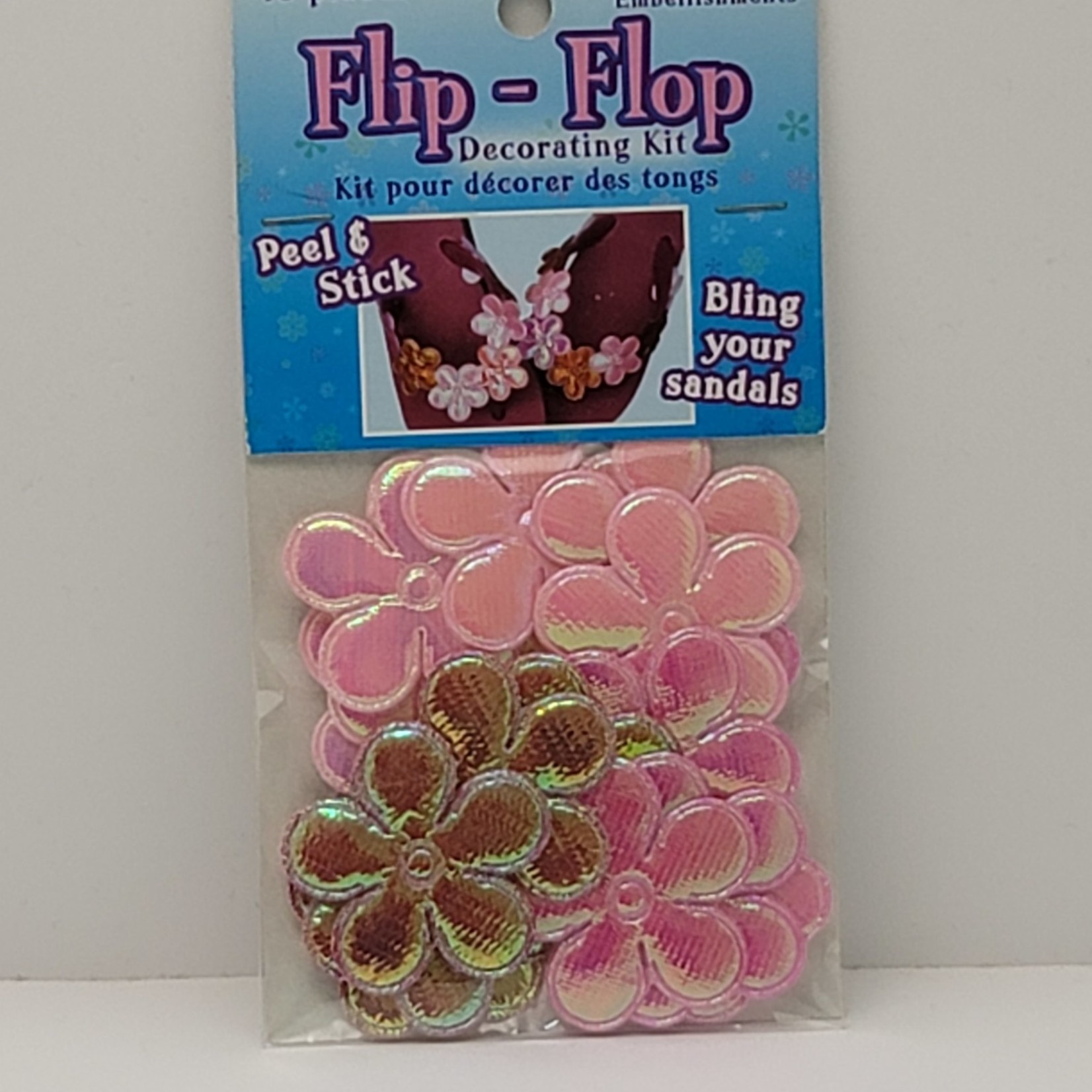 Peel & Stick Flowers (light Pink, Pink and Red)