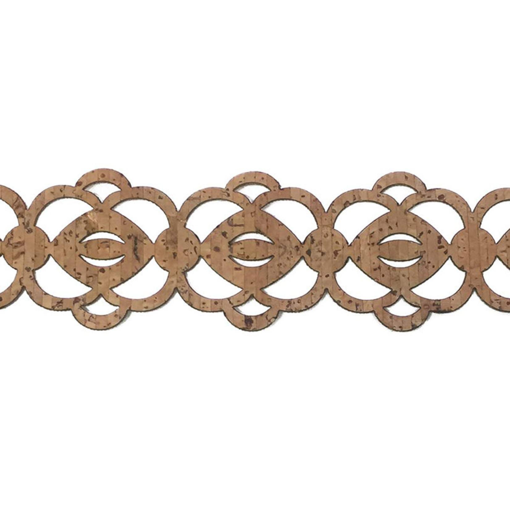 Belagio Laser Cut Cork Trim 1.5 Medallion (Sold Per Metre)