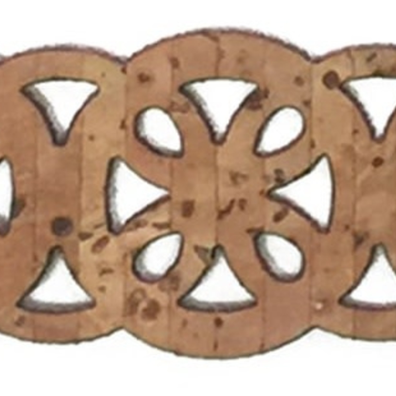 Belagio Laser-Cut Cork Trim .75'' - Wheels (Sold Per Metre)