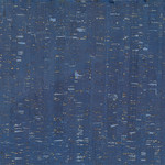 Belagio Packaged - Cork Fabric 18x15 Blue/Silver