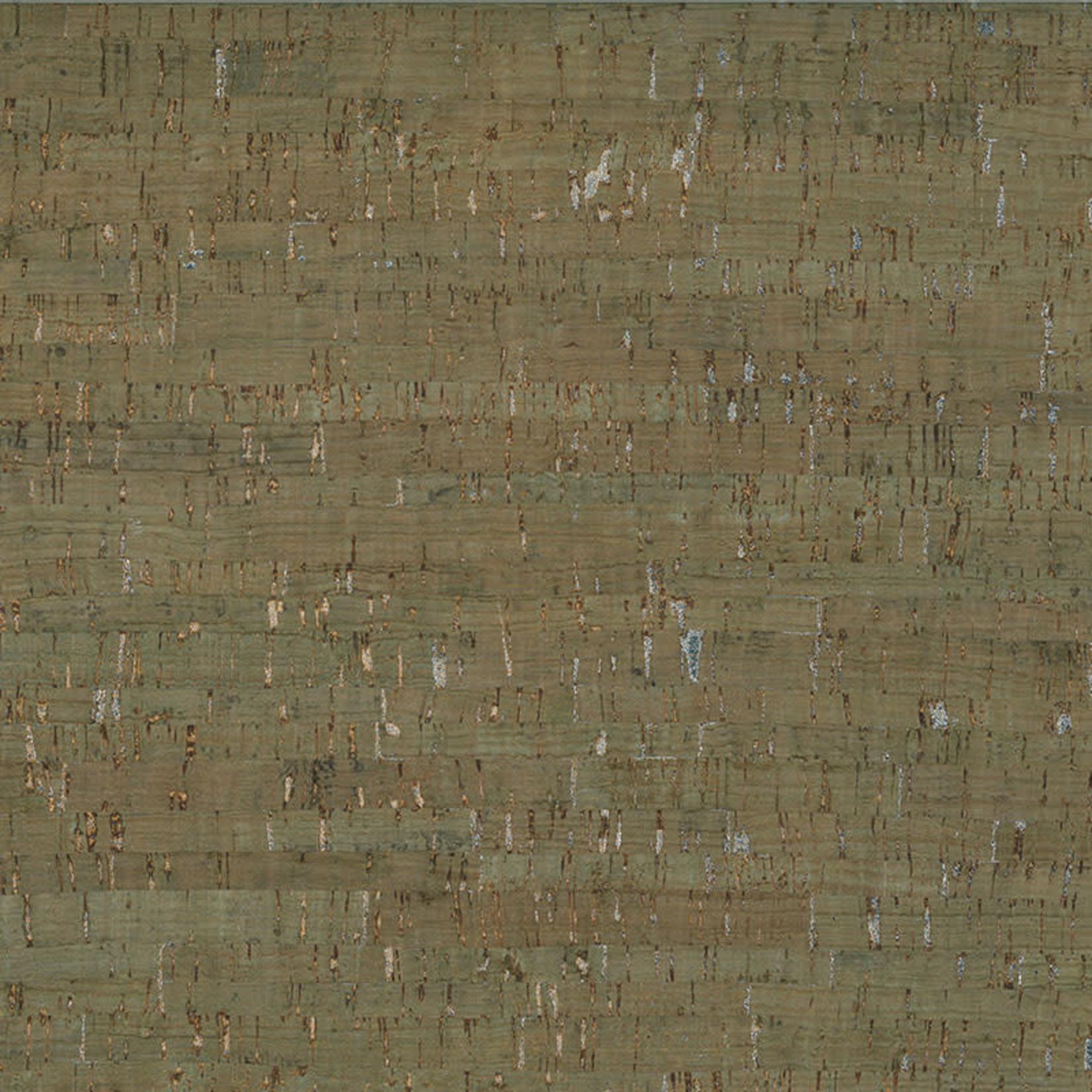 Belagio Packaged - Cork Fabric 18x15 Green/Silver