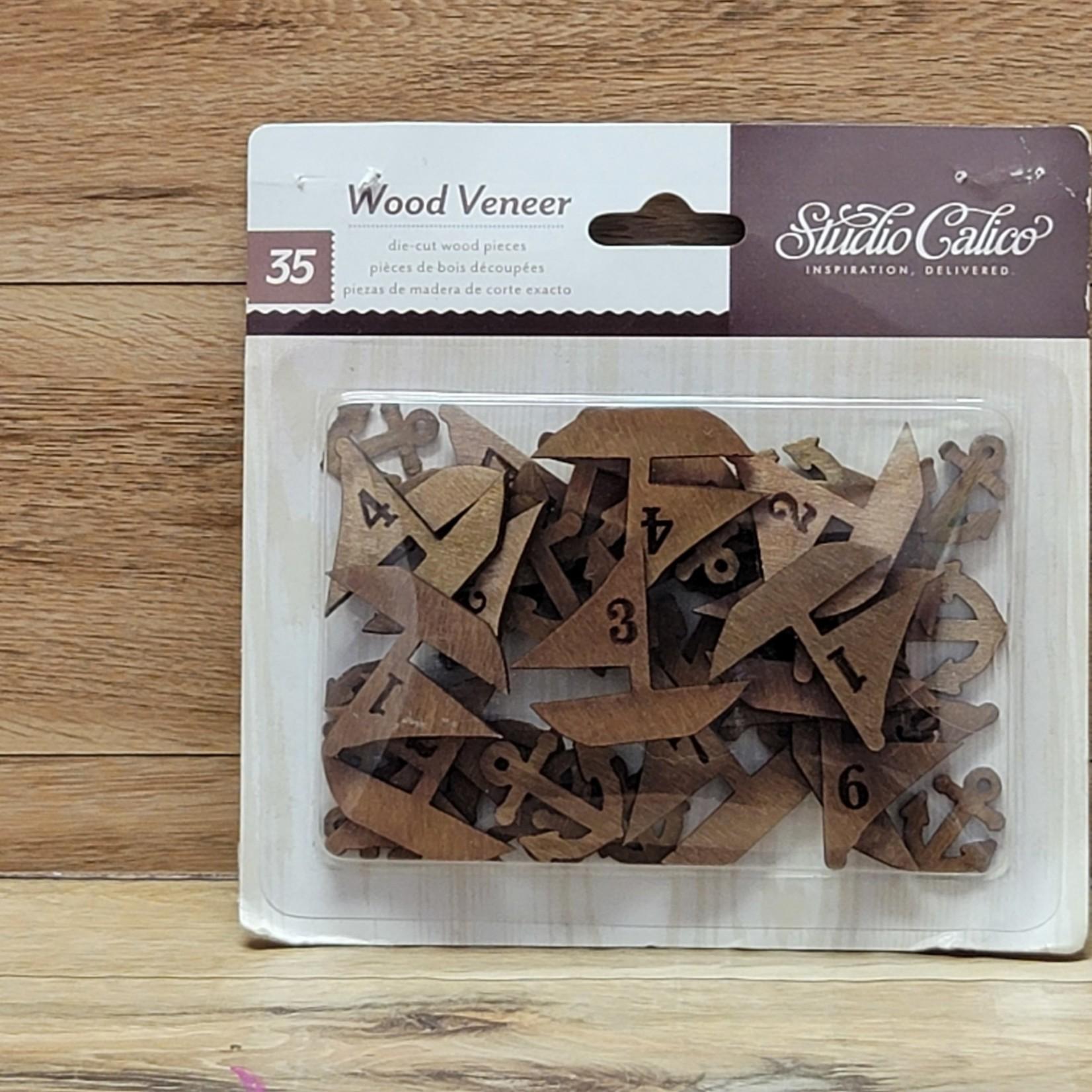 Studio Calico - Wood Veneer die-cut peices- Sailboats