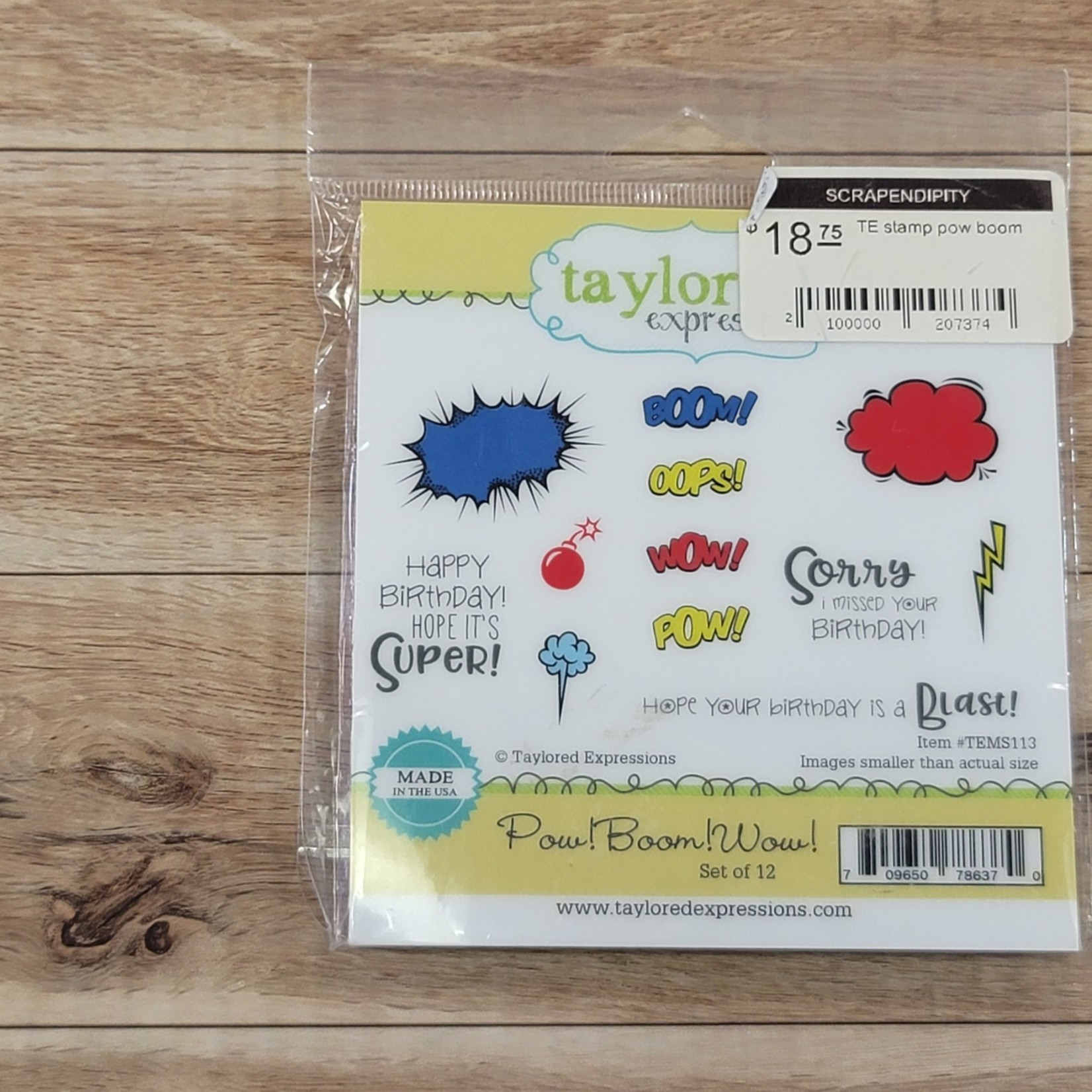 taylored expressions - Cling Stamps - Pow Boom