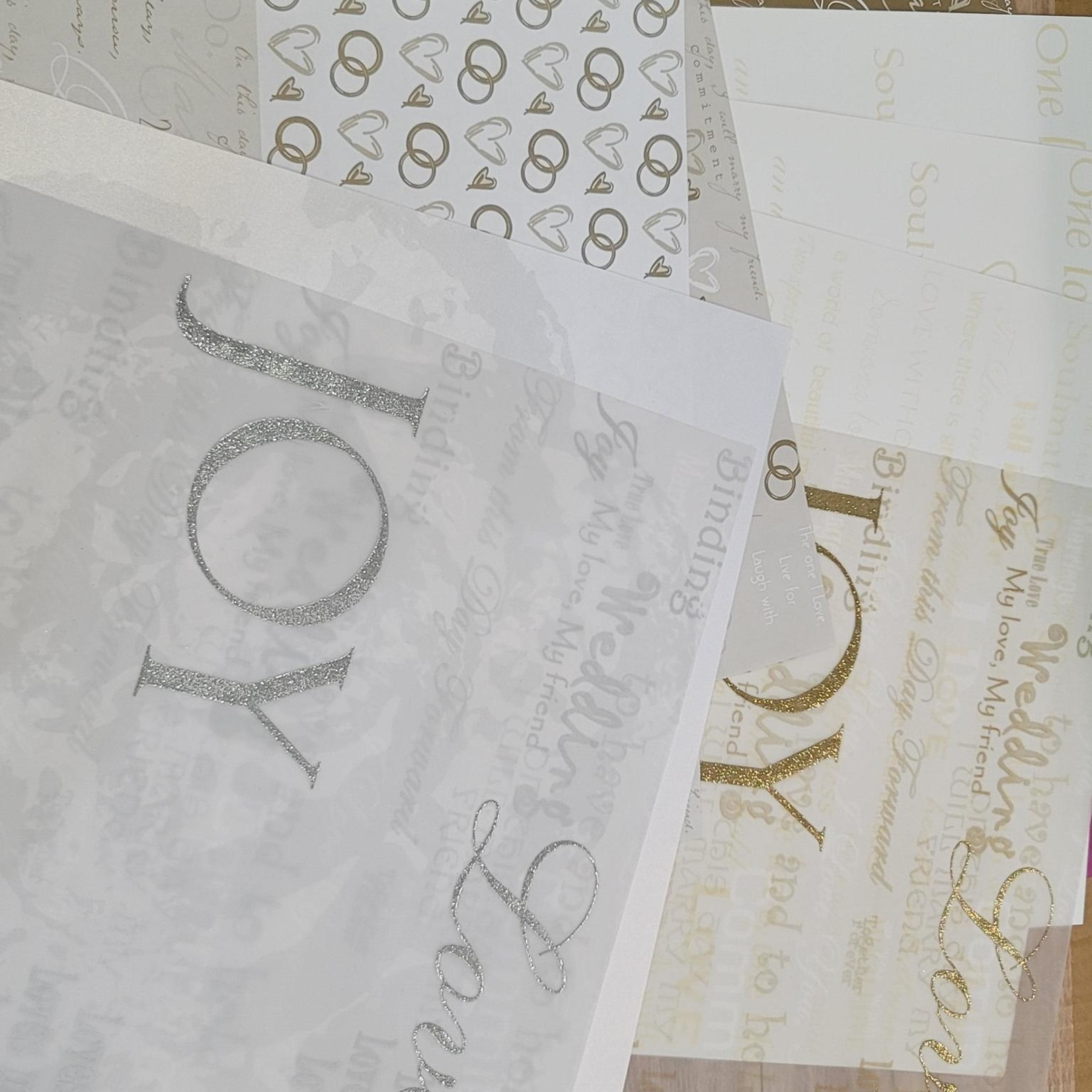 """Paper Packs - 12"""" x 12"""" Gold and Silver Wedding"""