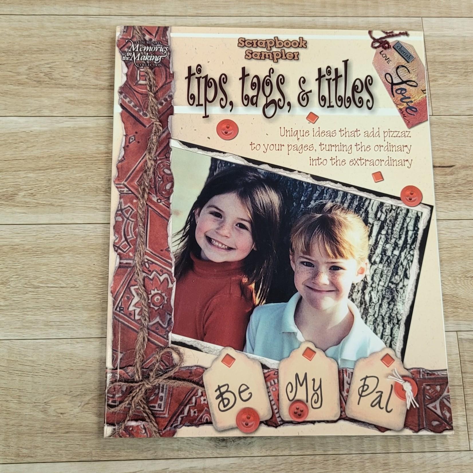 Scrapbooking Books - Scrapbook Sampler - tips, tags & titles