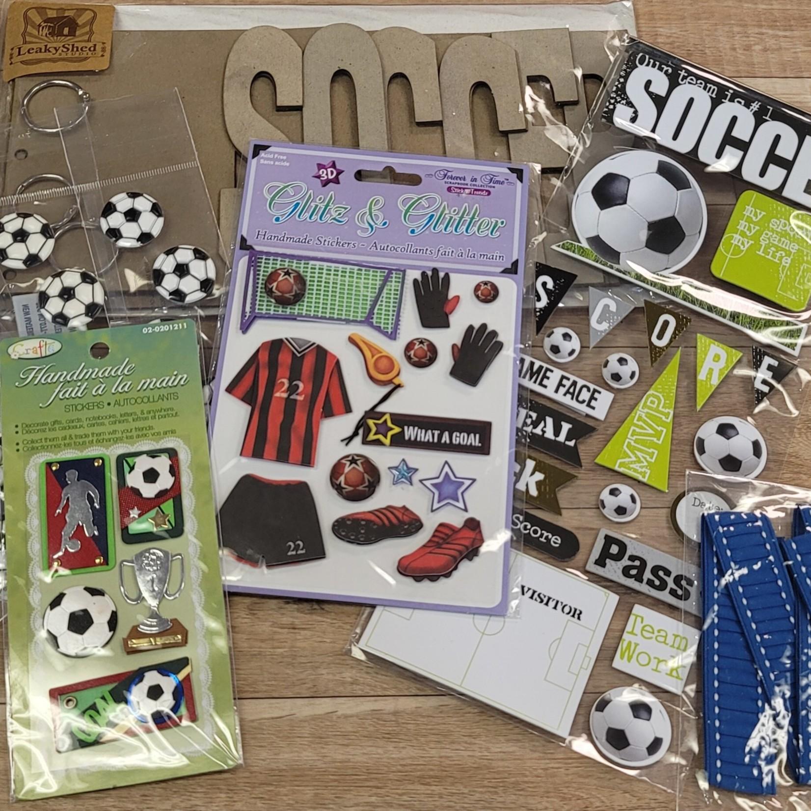 Soccer Chipboard Album Pack