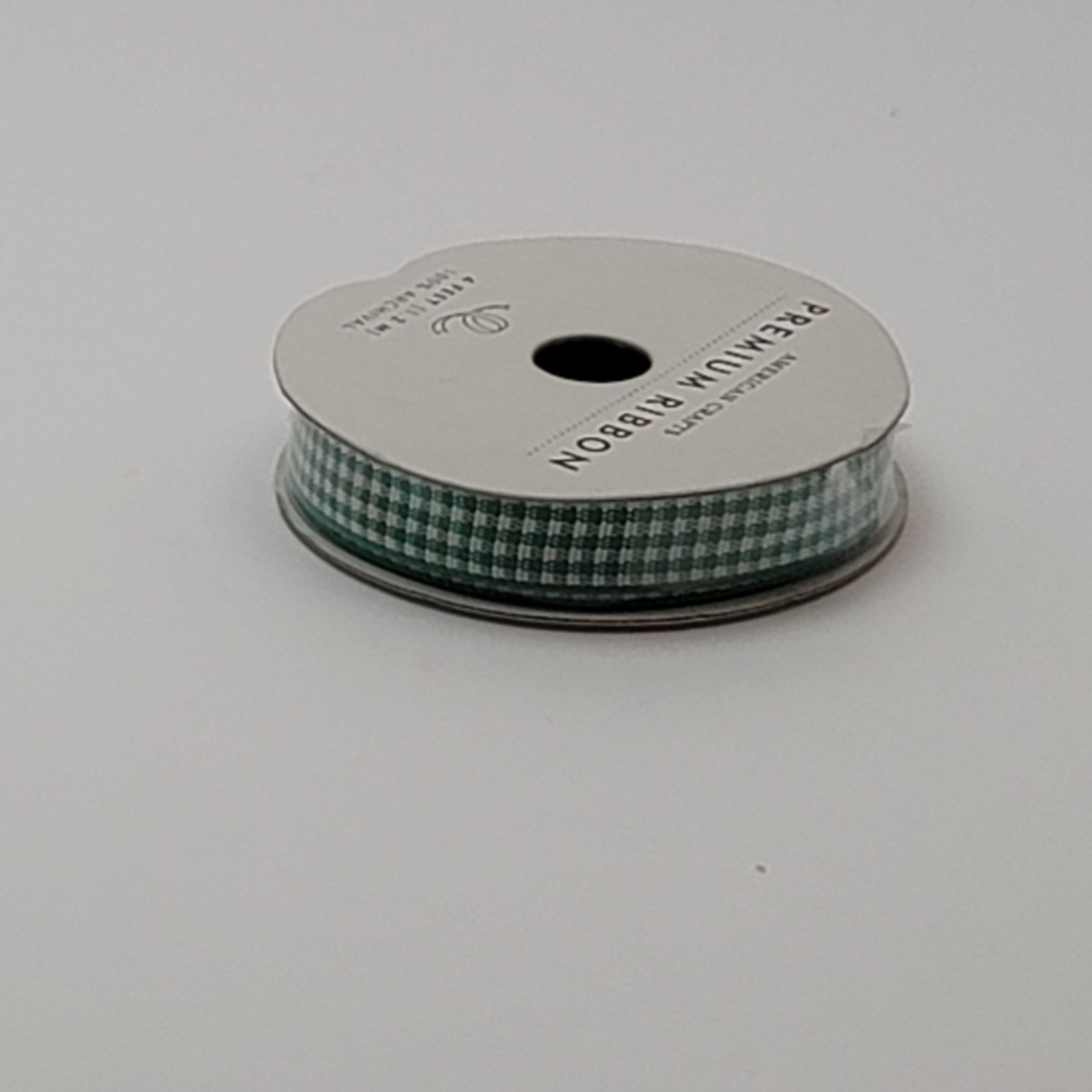 American Crafts - Ribbon - Green and White Check
