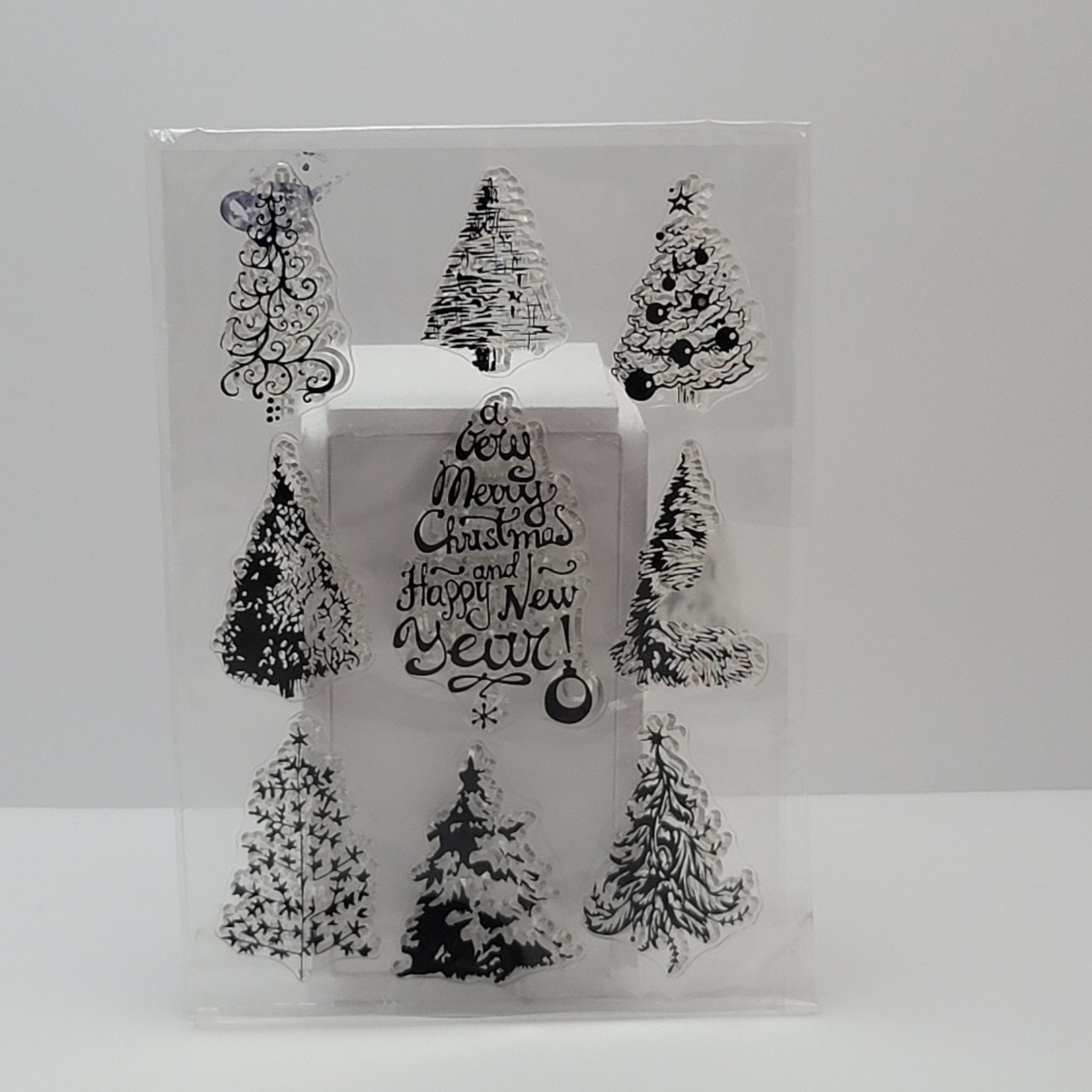 Clear stamps - Christmas Trees