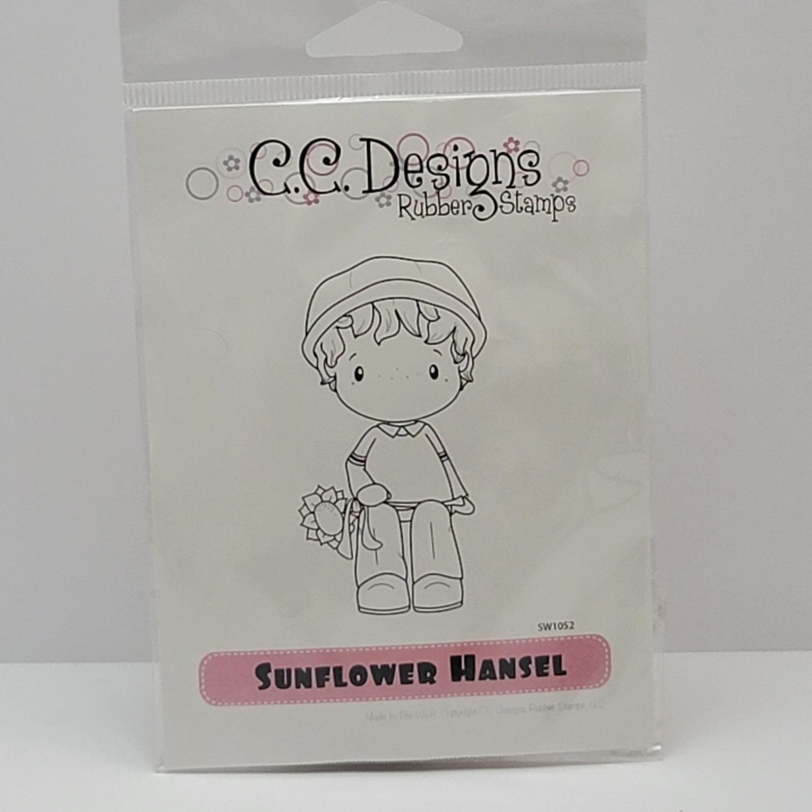 C.C. Designs - Rubber stamp - Sunflower Hansel