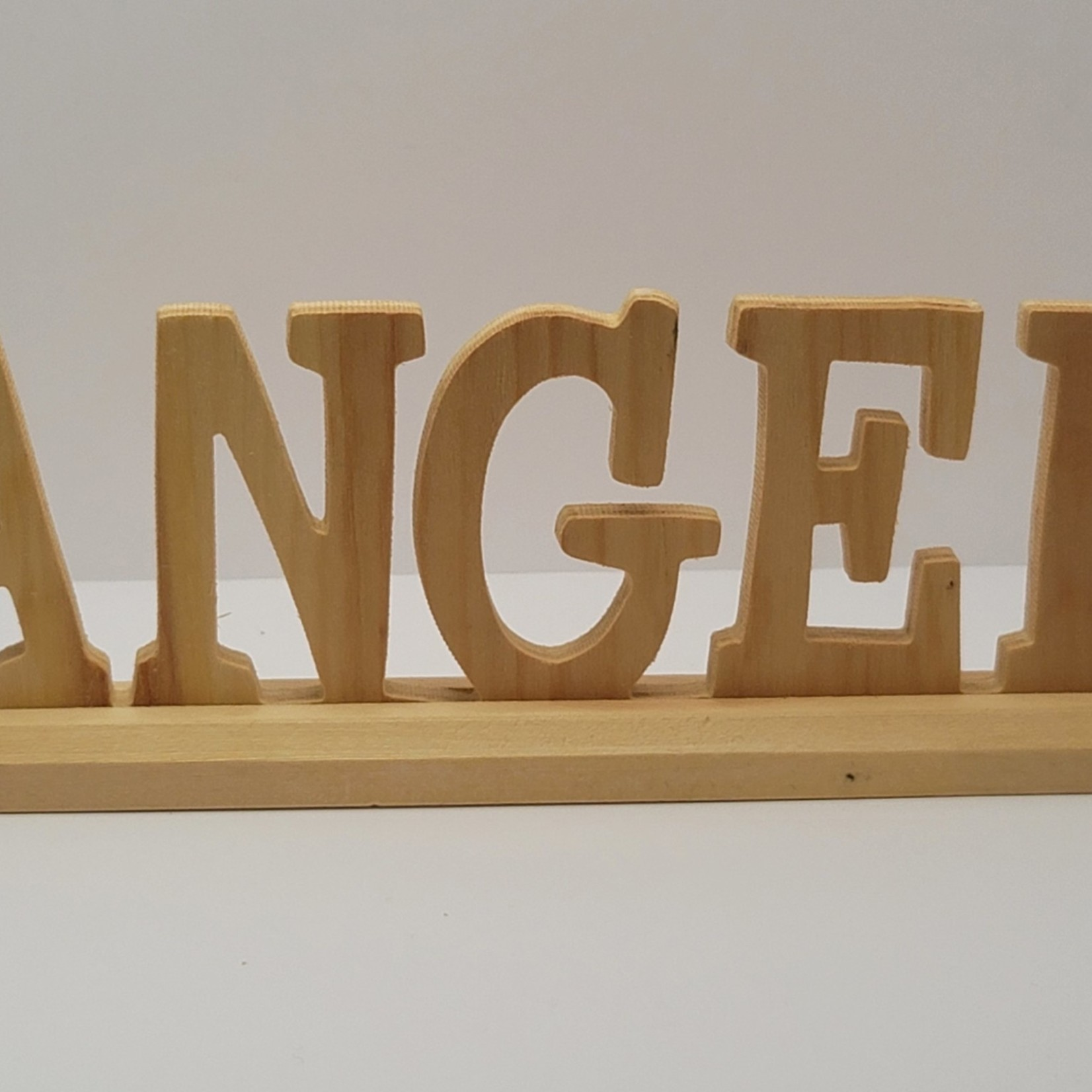 Wood Stand-up Sign - Angel
