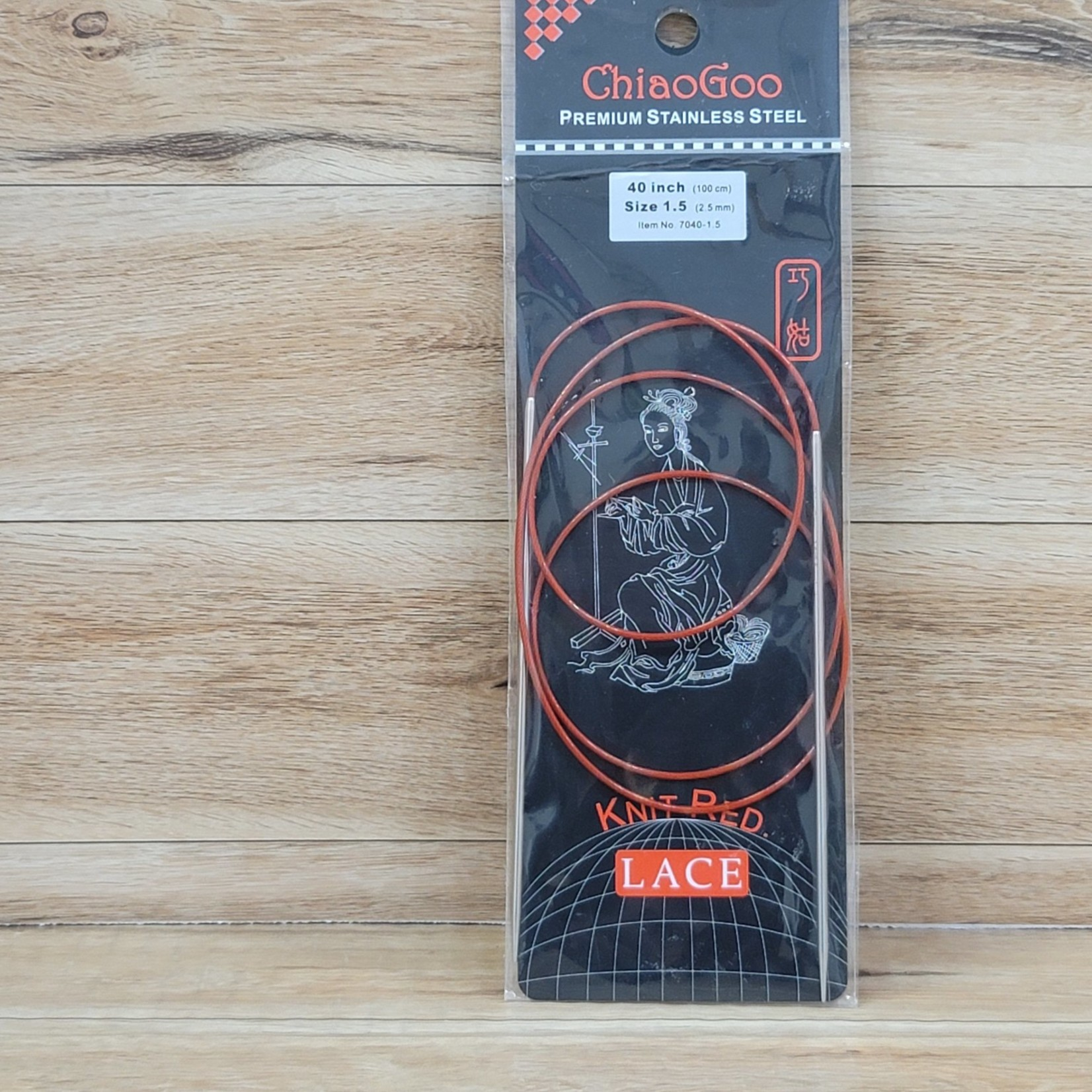 ChiaoGoo - Red Circular Knitting Needles - 40 inch Size 1.5 (2.5mm)
