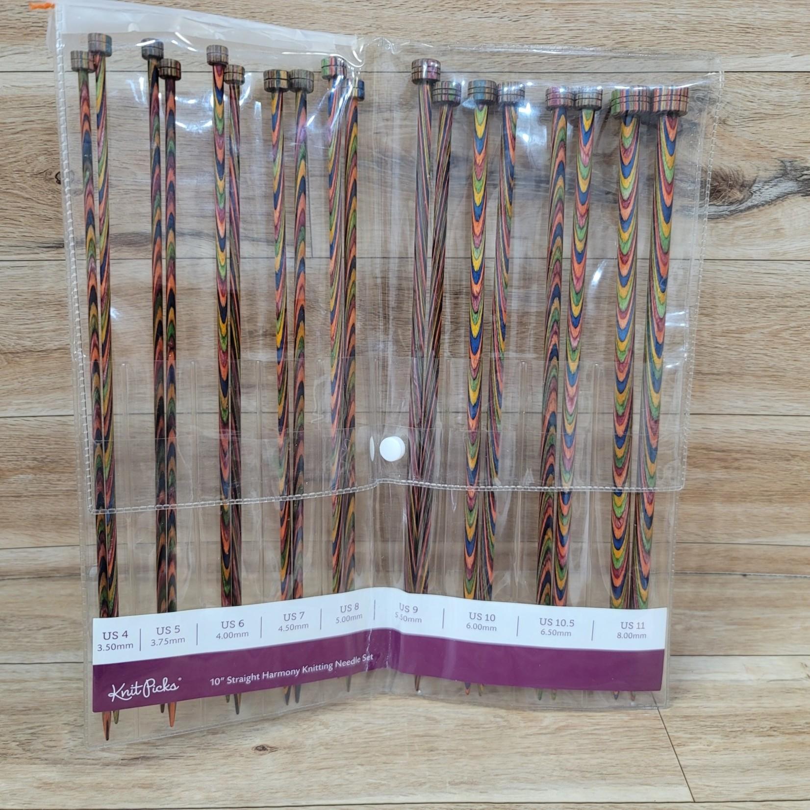 "Knit Picks 10"" Straight Harmonwy Knitting Needle Set"