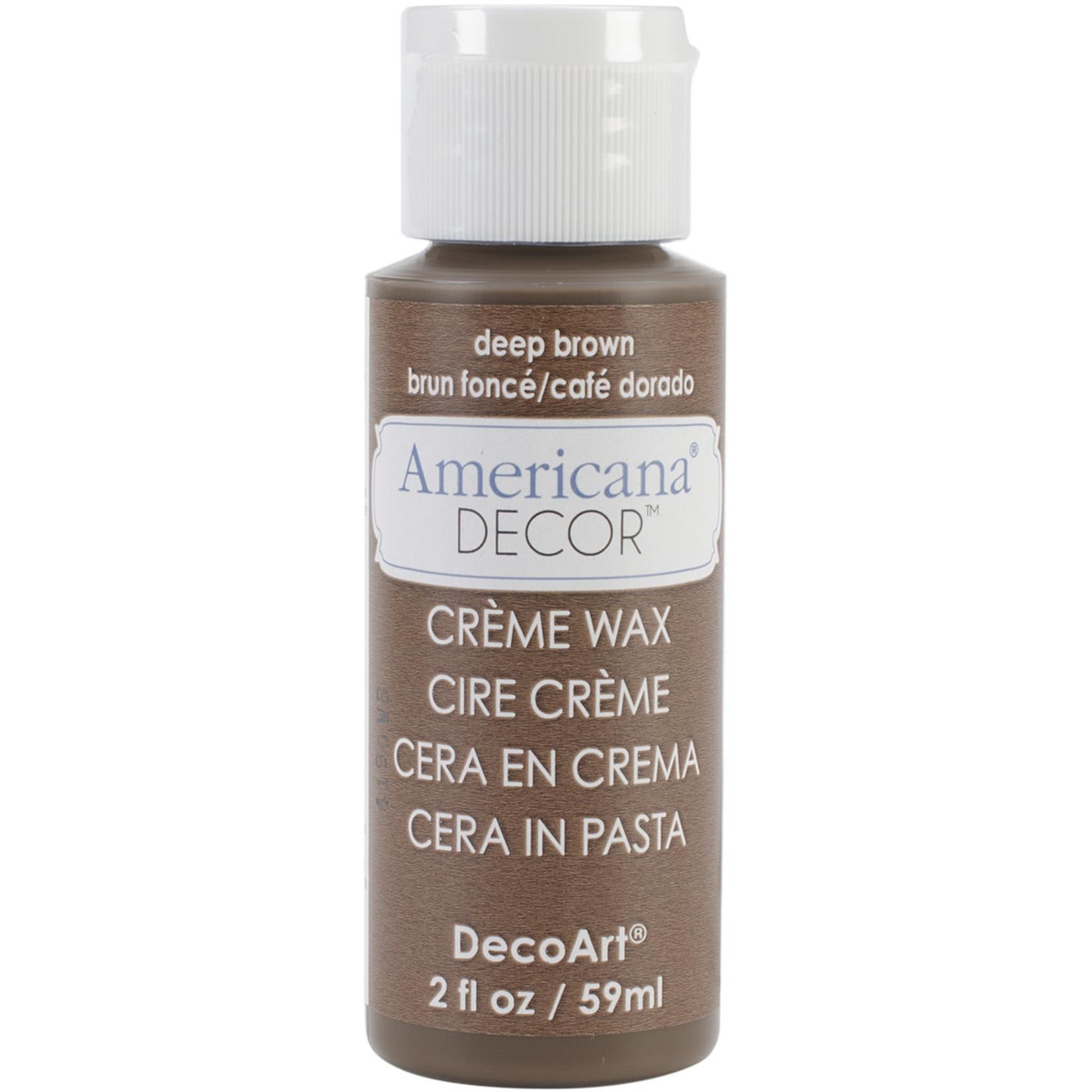 American Crafts Americana Creme Wax 2oz-Deep Brown