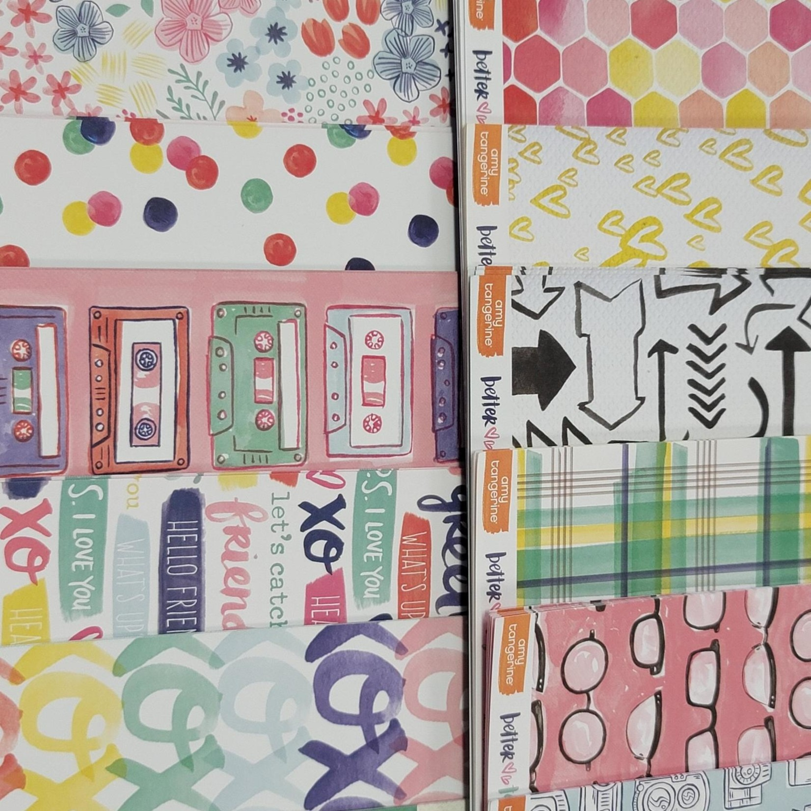 American Crafts amy tangerine - better together - paper pack for folio album