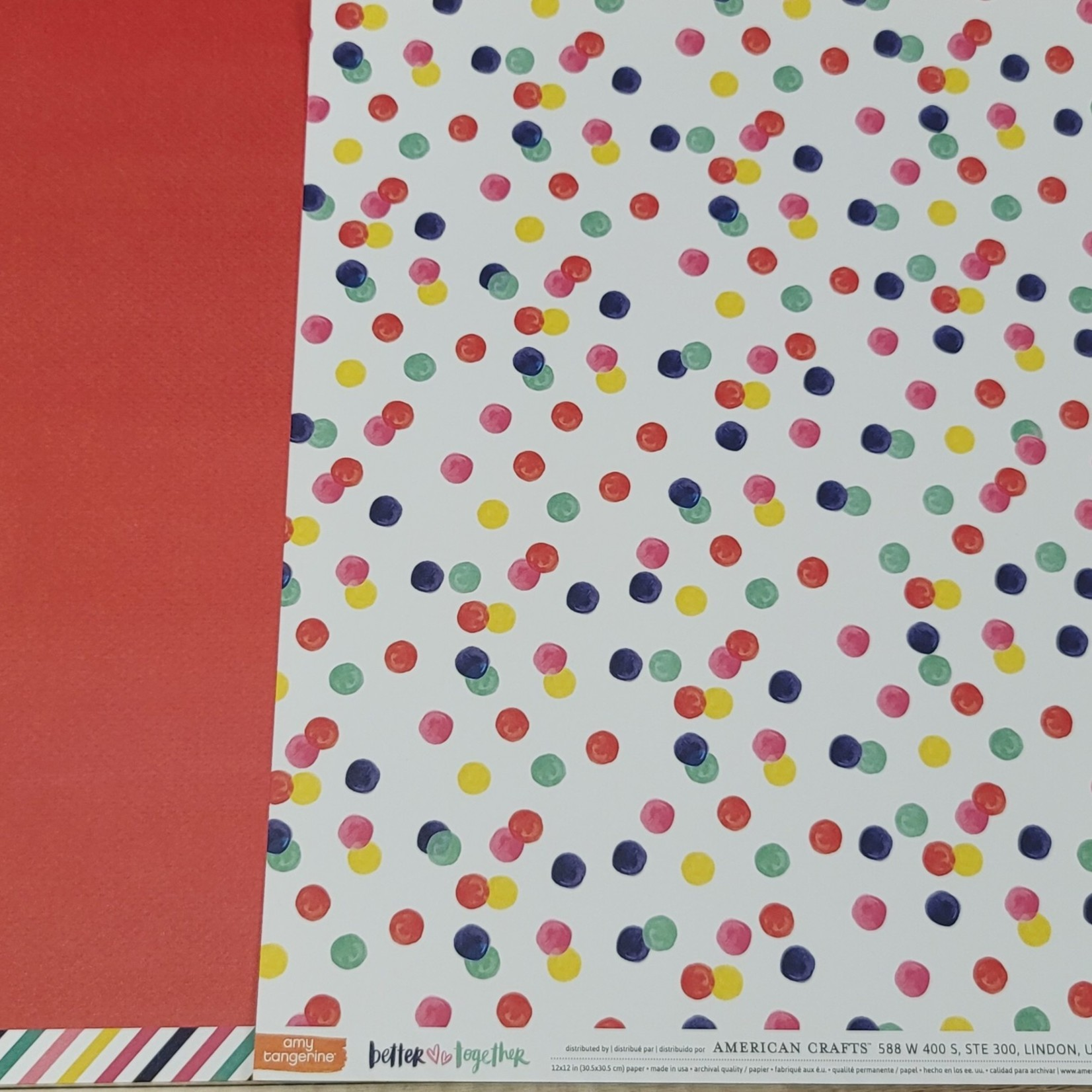 American Crafts American Crafts - amy tangerine better togeher 12''x12'' double-sided page - ladies & gentleman