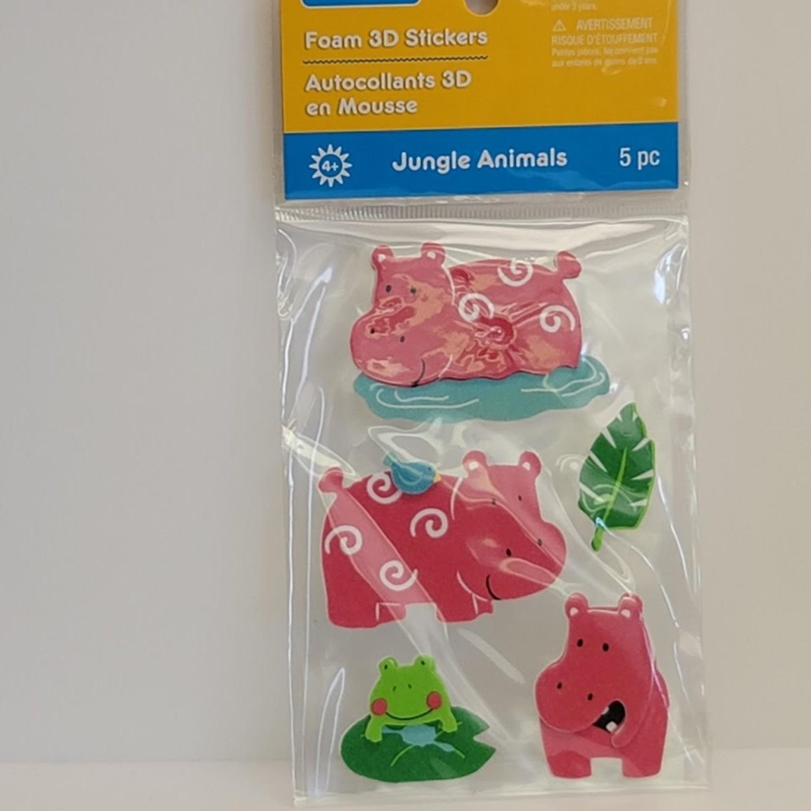 Foam 3D Stickers - Hippos