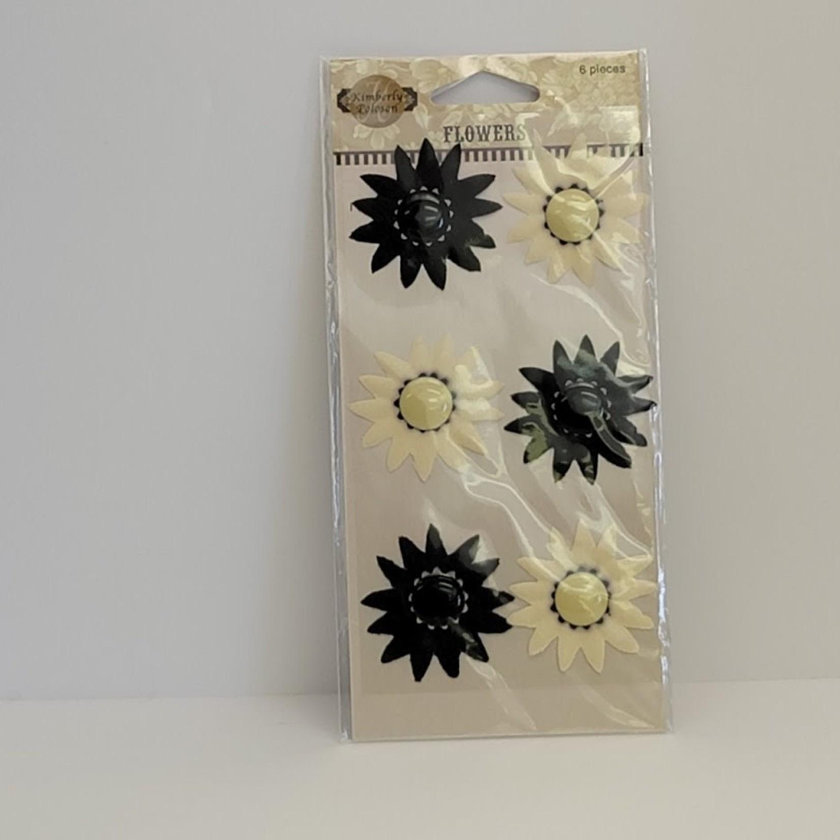 Fiskars - Black and White Flower Sticker