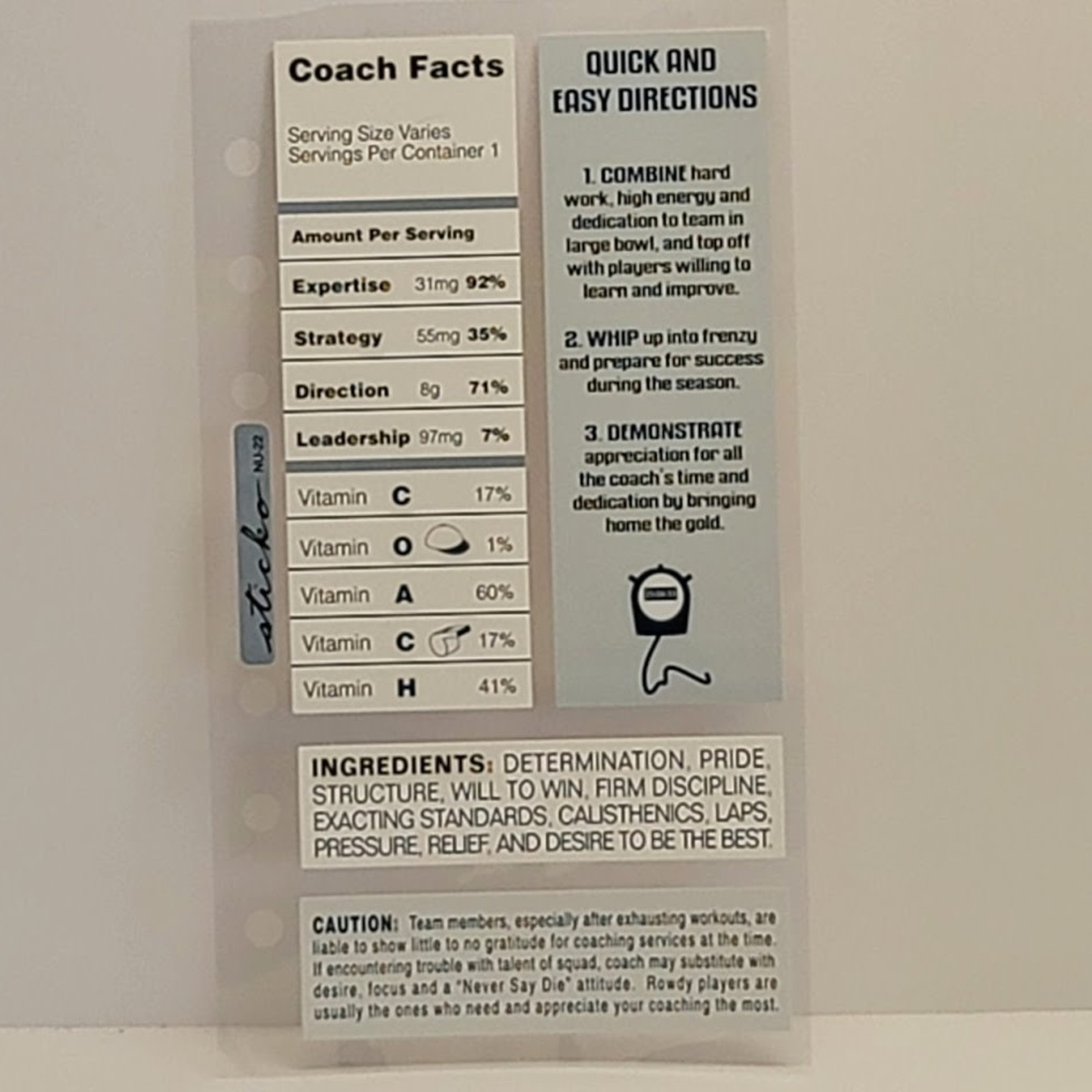 Stickers - Coach Facts
