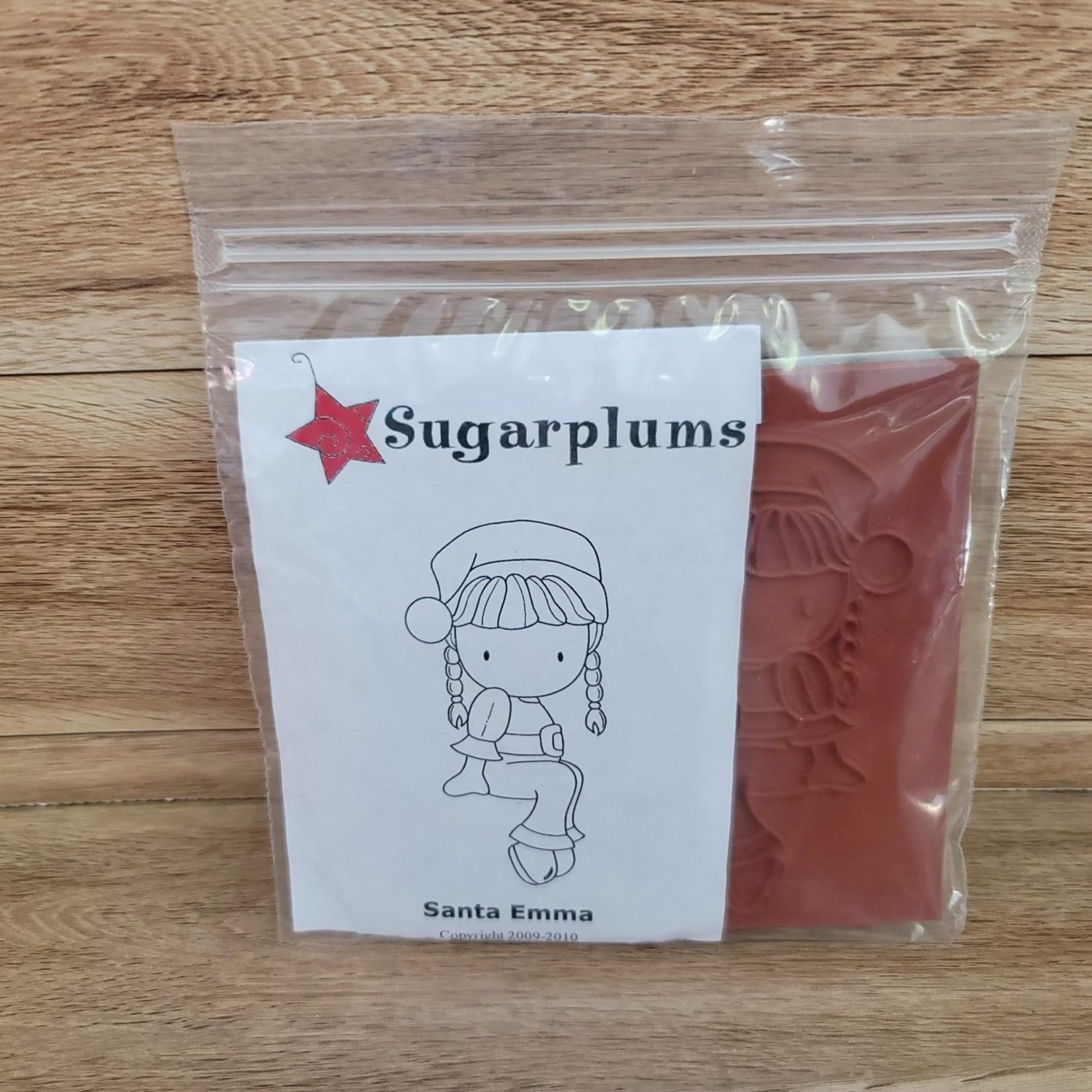Sugarplums - Rubber stamp - Santa Emma